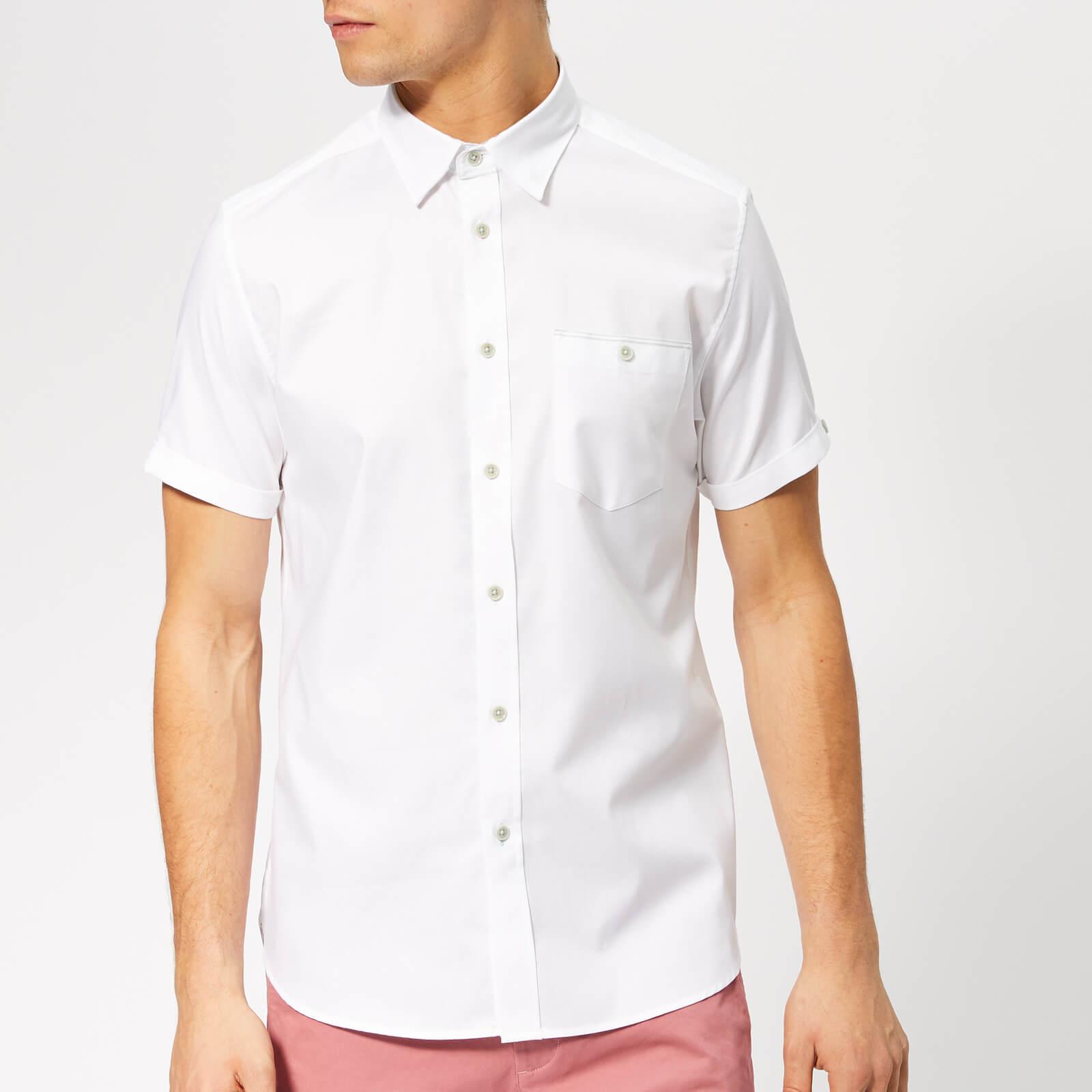 0da71d81 Ted Baker Men's Wallabi Short Sleeve Shirt - White Mens Clothing |  TheHut.com
