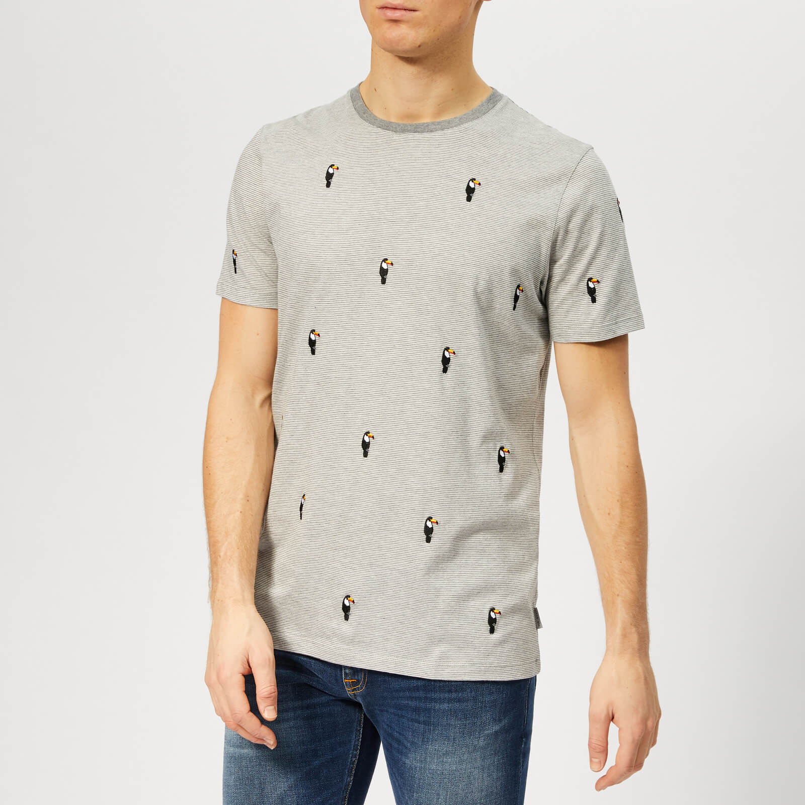 4254b59ba Ted Baker Men s Vipa T-Shirt - Grey-Marl Clothing