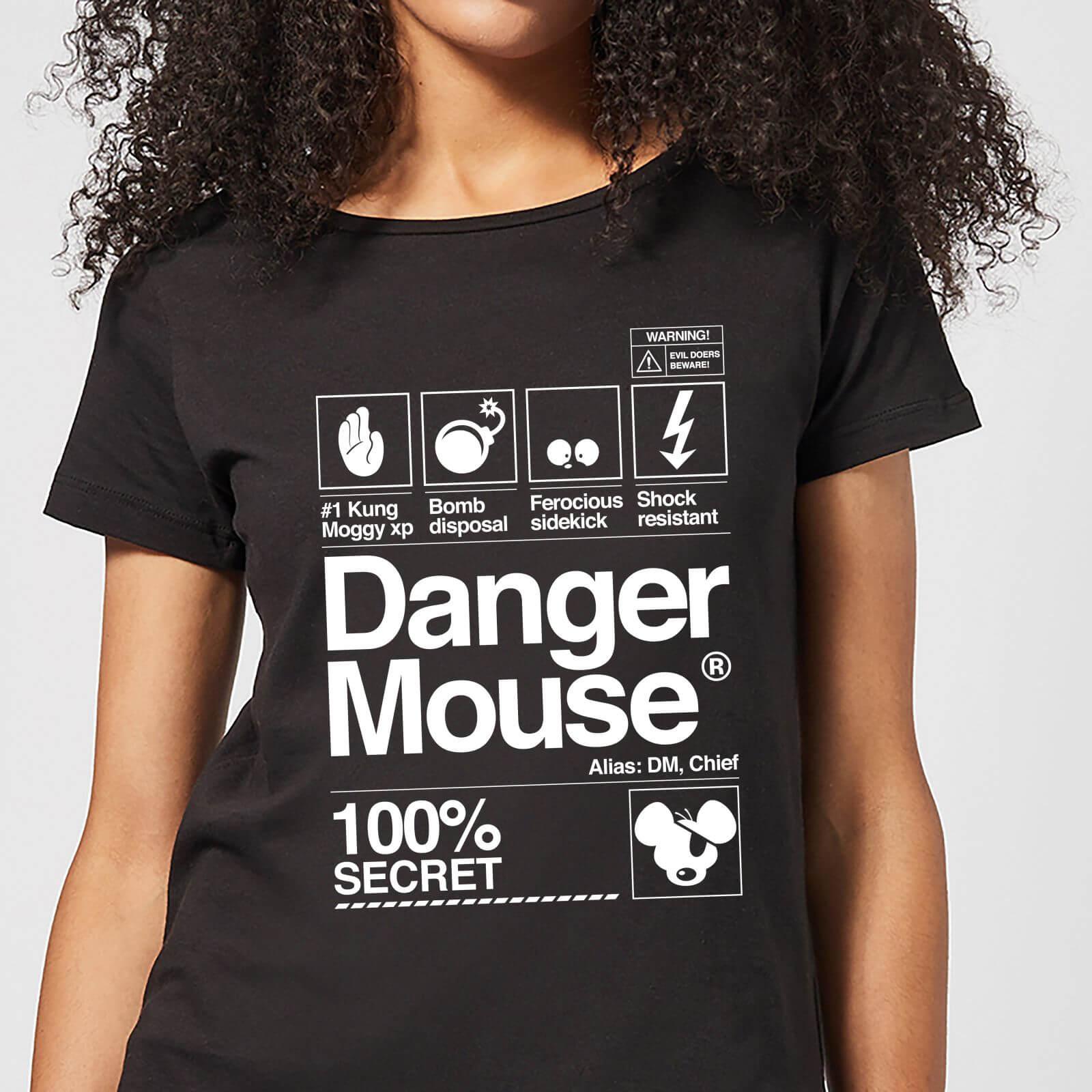 1c955f849cdd Danger Mouse 100% Secret Women s T-Shirt - Black Clothing