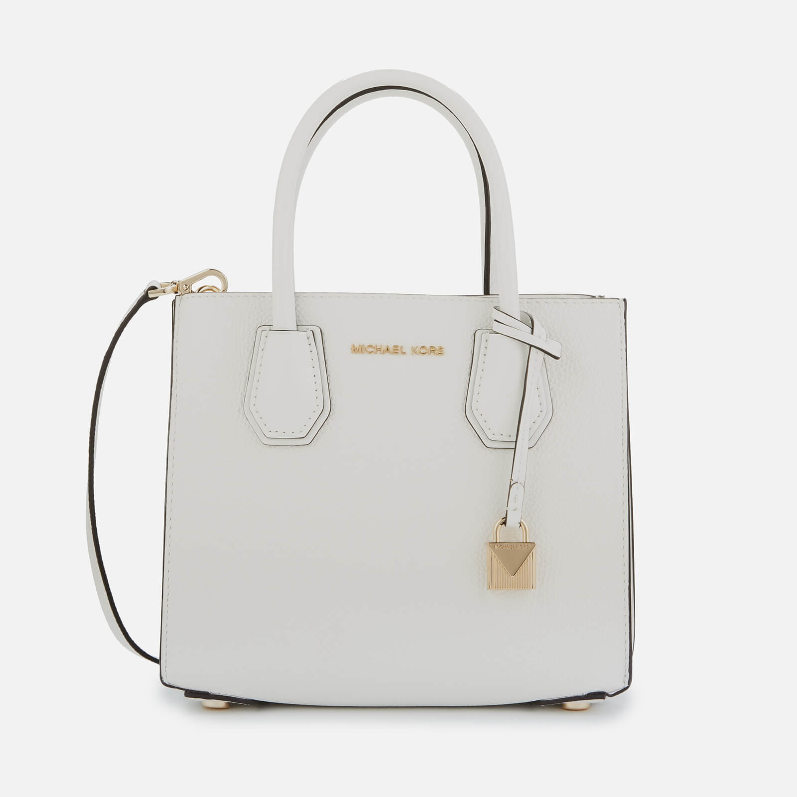 MICHAEL MICHAEL KORS Women's Mercer Medium Acordian Messenger Bag - Optic White