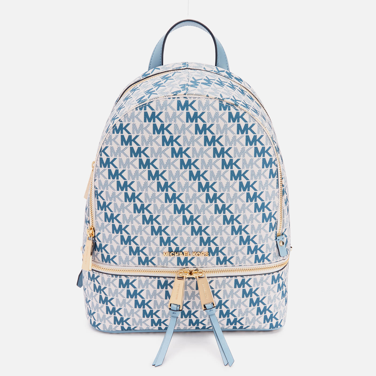 a3a3af595611c3 MICHAEL MICHAEL KORS Women's Rhea Zip Medium Backpack - Optic White - Free  UK Delivery over £50