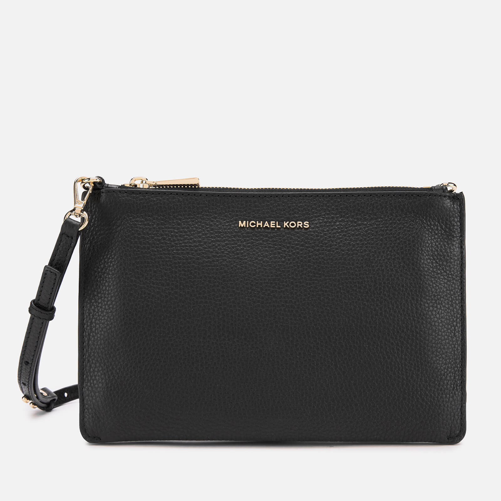 5f5d9359f99c39 MICHAEL MICHAEL KORS Women's Crossbodies Large Double Pouch Cross Body Bag  - Black - Free UK Delivery over £50