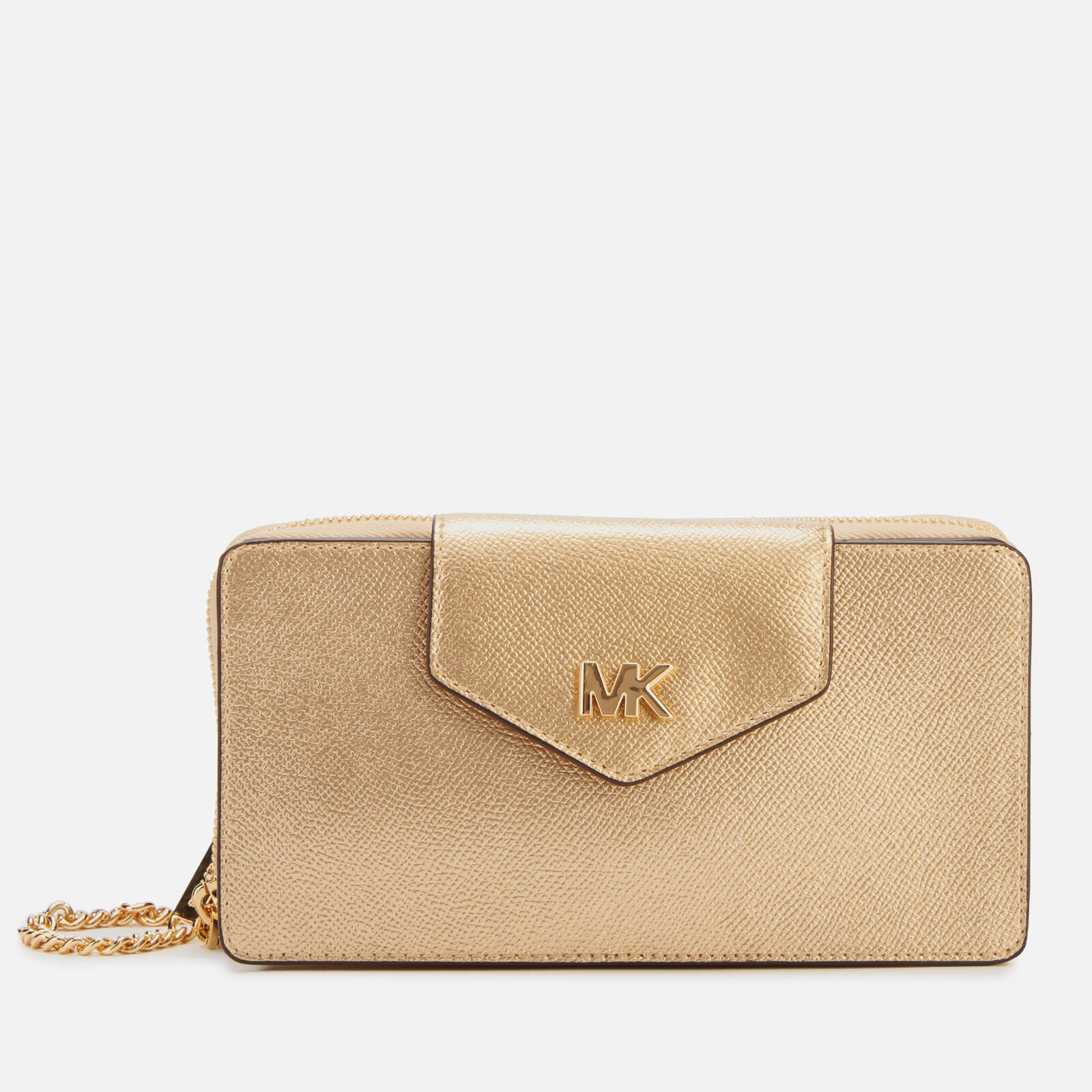 3313fa875906 MICHAEL MICHAEL KORS Women s Small Convertible Phone Cross Body Bag - Pale  Gold - Free UK Delivery over £50