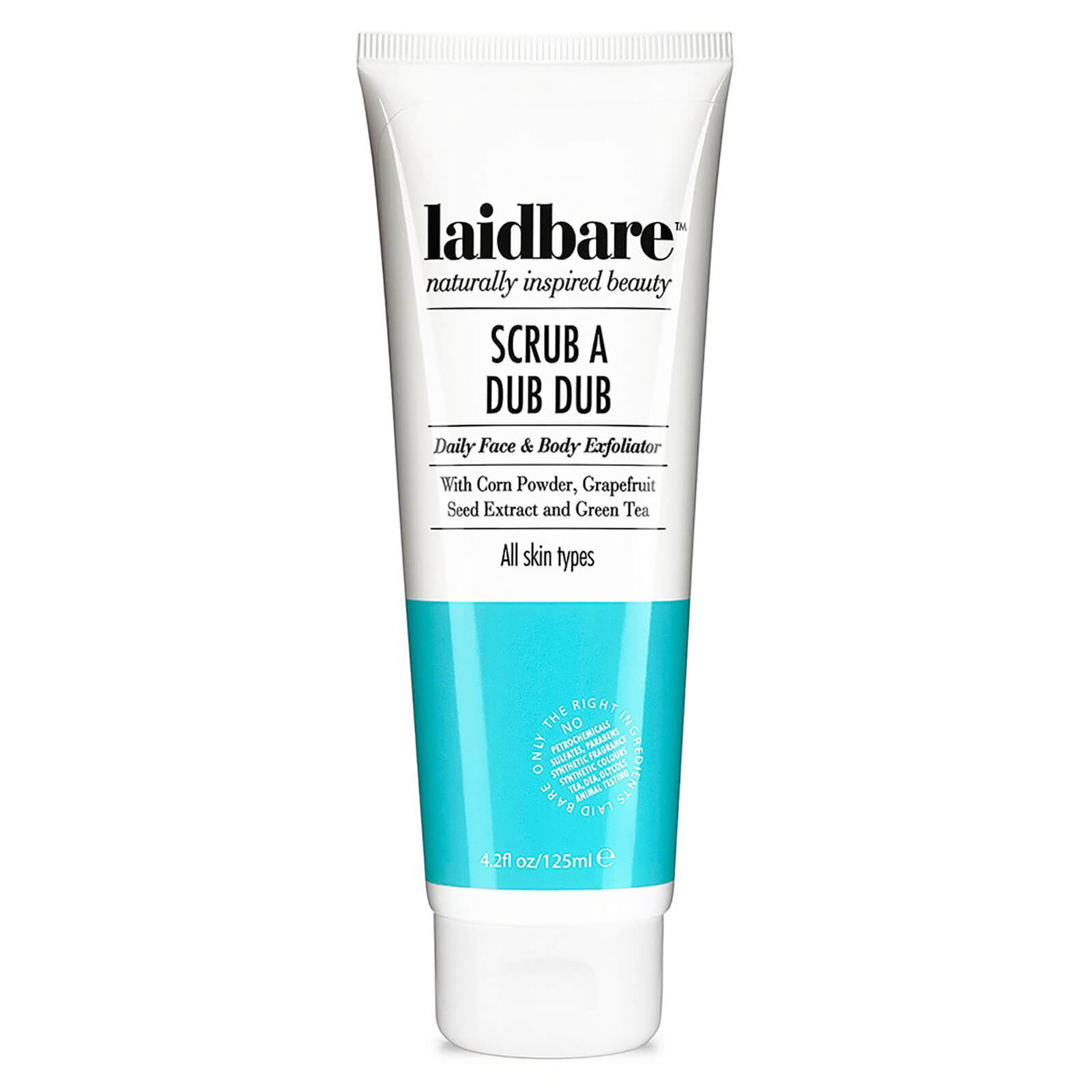 Laidbare Scrub a Dub Dub Daily Facial Exfoliator 125ml | HQ Hair
