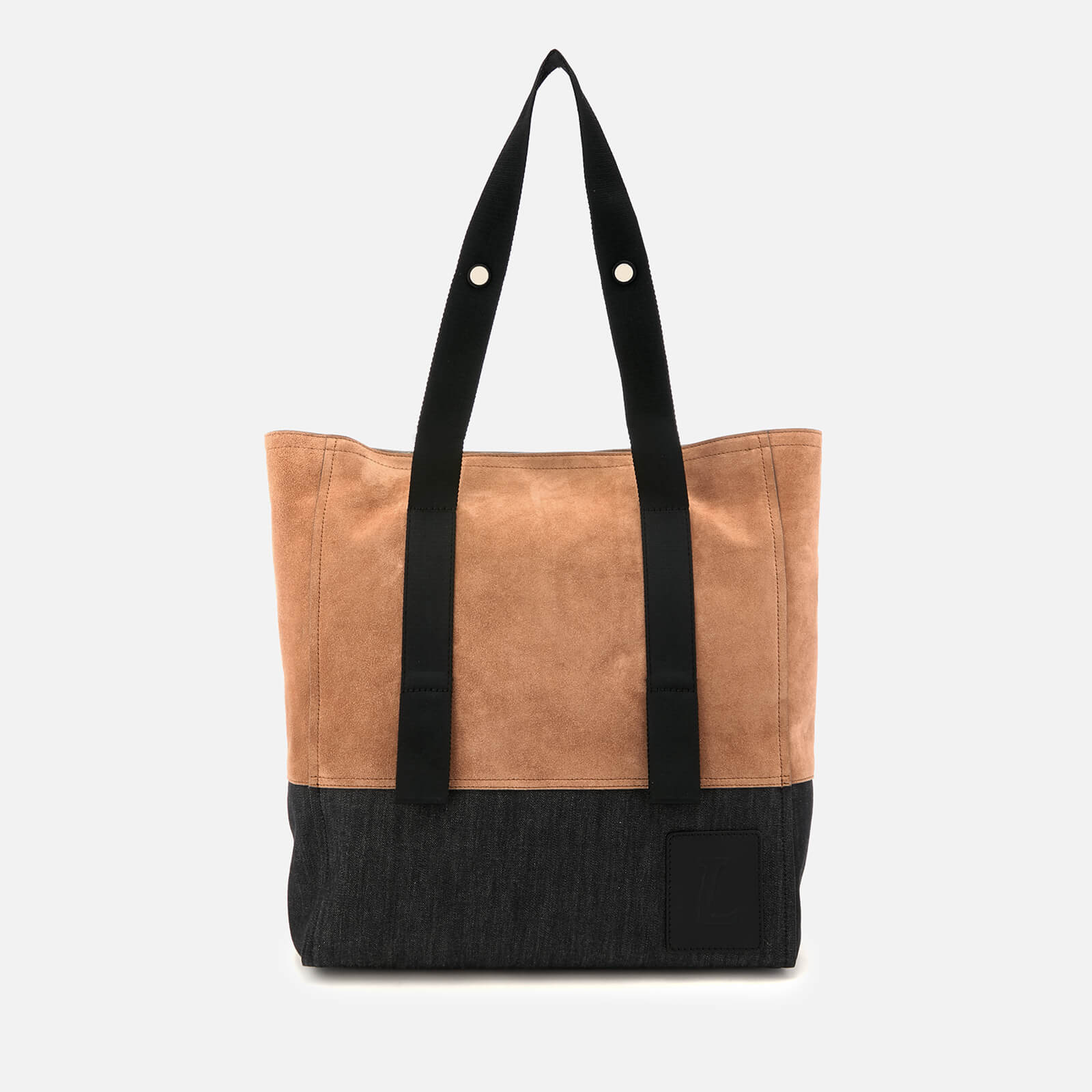 2ca6c966 Lanvin Men's Suede Tote Bag - Black/Light Brown