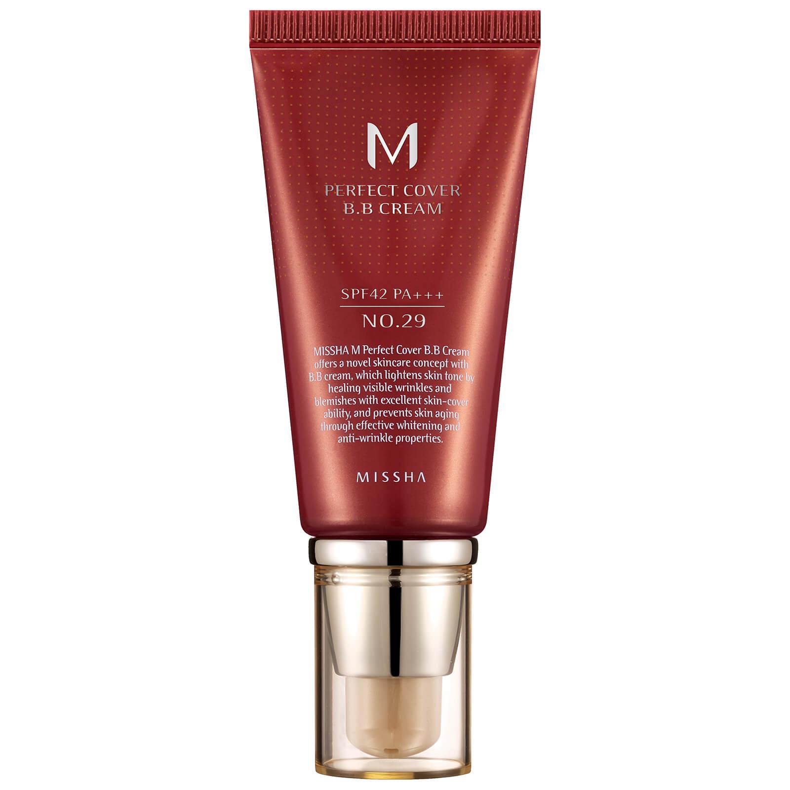 MISSHA M Perfect Cover BB Cream SPF42/PA+++ - No.29/Caramel Beige 50ml -  LOOKFANTASTIC