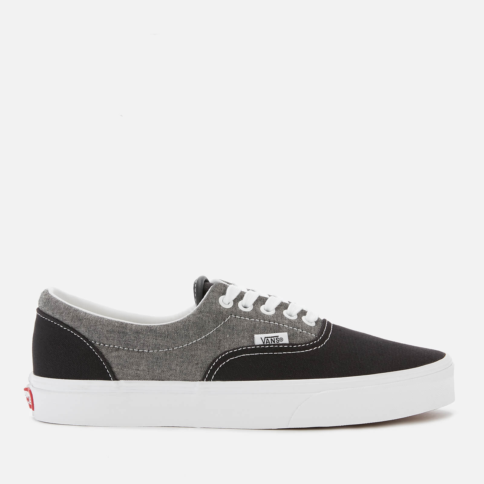 7b040e21 Vans Men's Chambray Era Trainers - Canvas Black/True White