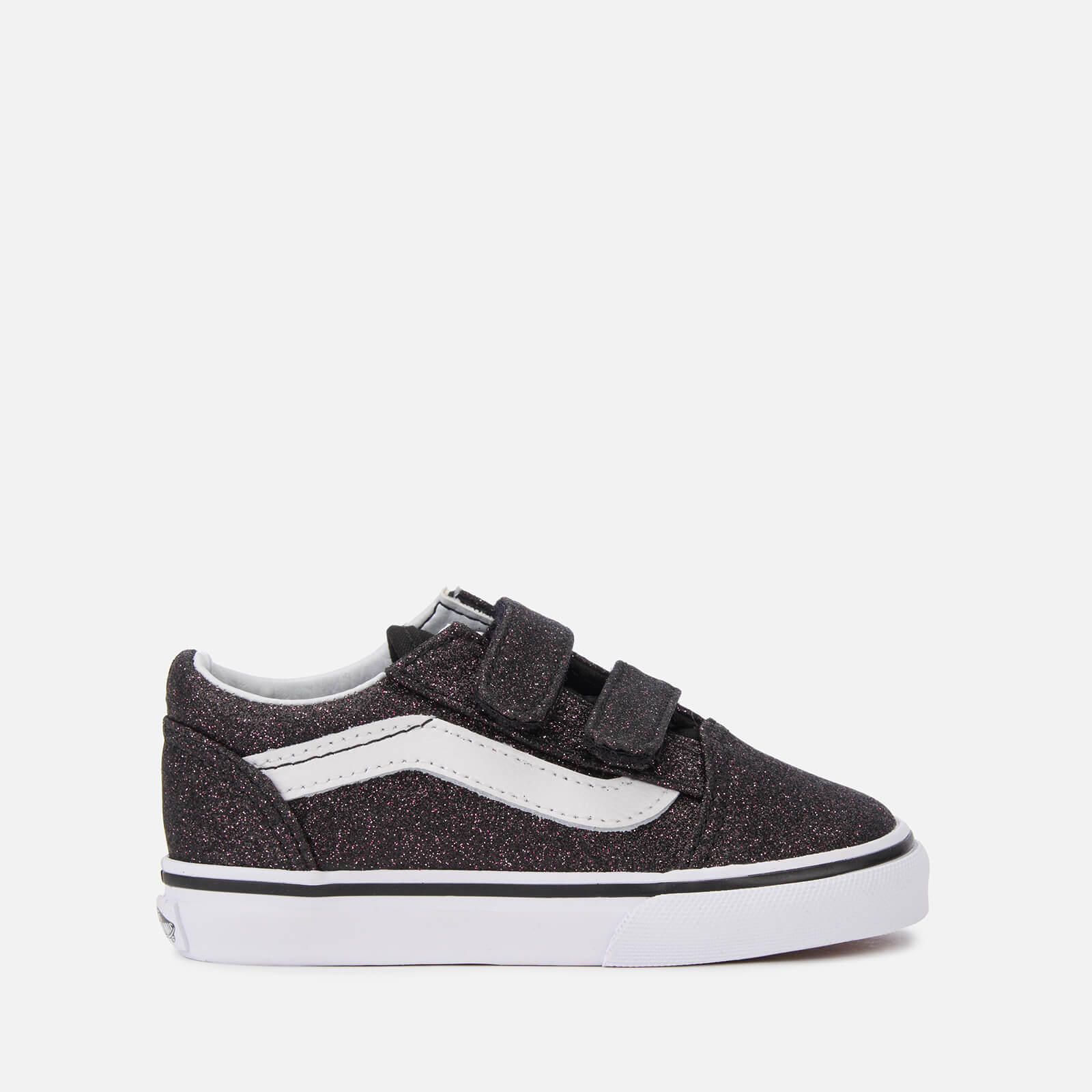 dcec2d56fb Vans Toddlers' Glitter Stars Old Skool Velcro Trainers - Black/True White  Junior Clothing | TheHut.com