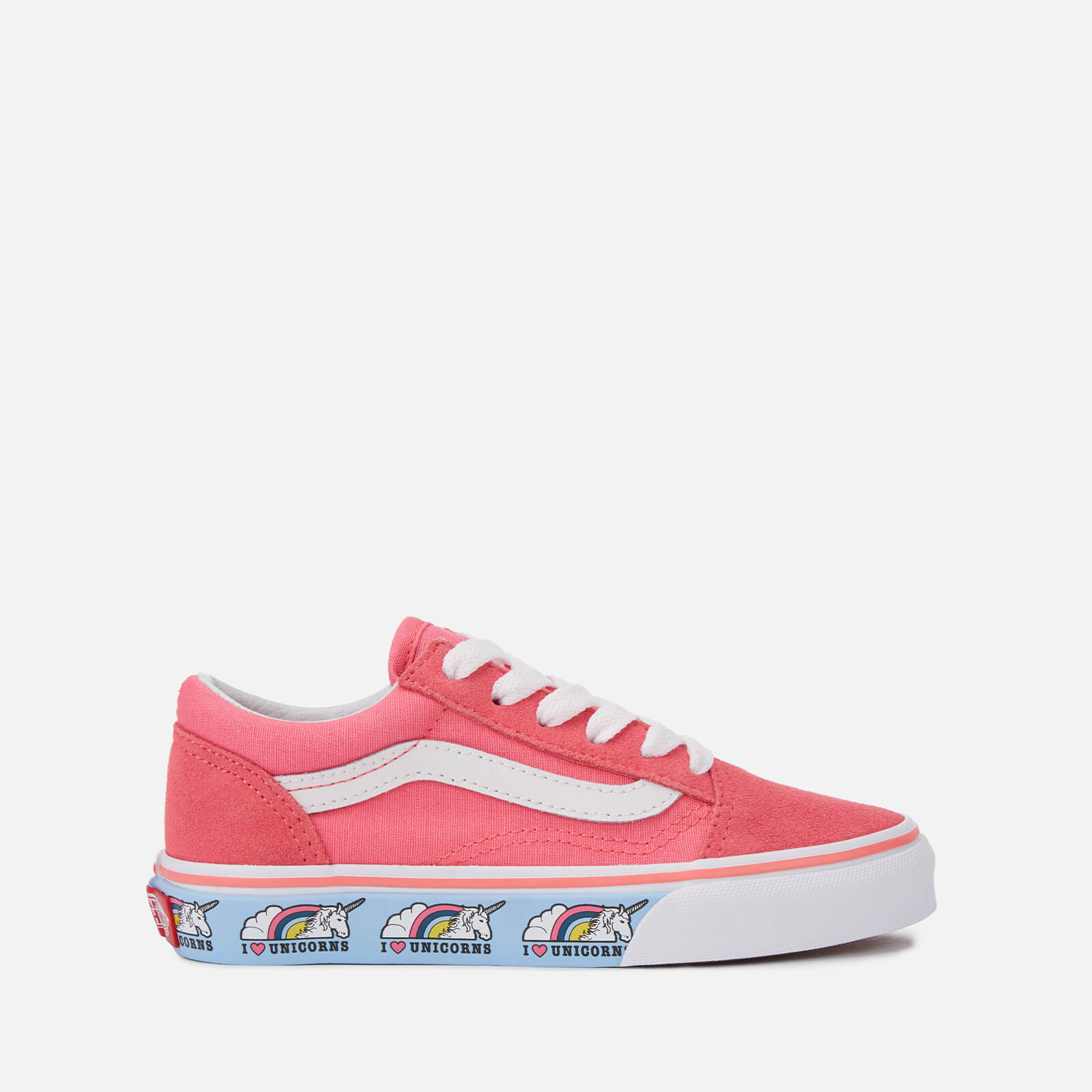 f2283e2ca Vans Kids' Unicorn Old Skool Trainers - Strawberry Pink/True White | FREE  UK Delivery | Allsole
