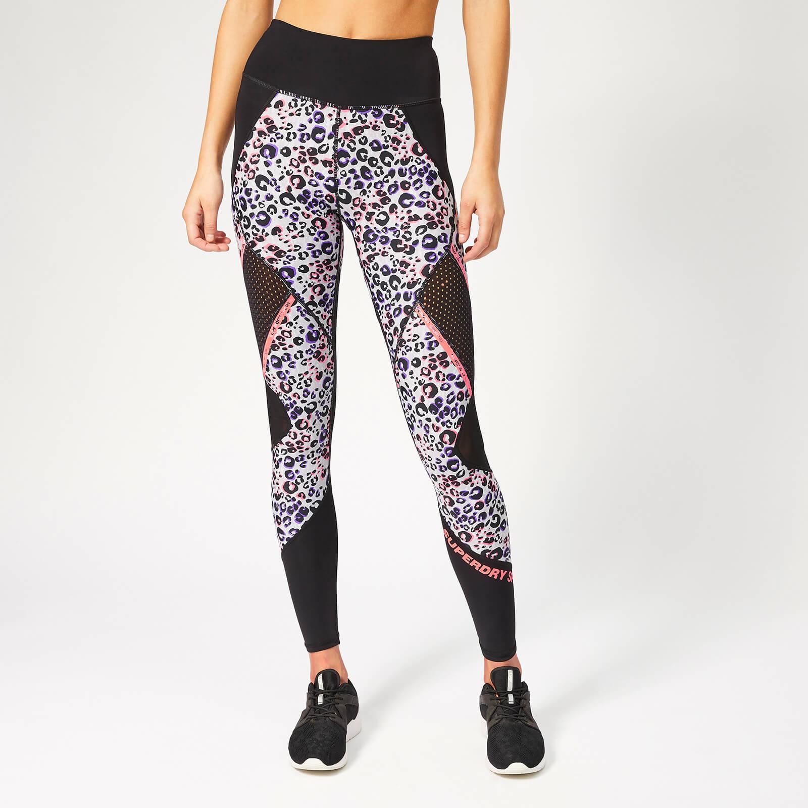 b1d6ed266ec7c Superdry Sport Women's Active Mesh Panel Leggings - Lola Leopard Coral Print  Womens Clothing | TheHut.com