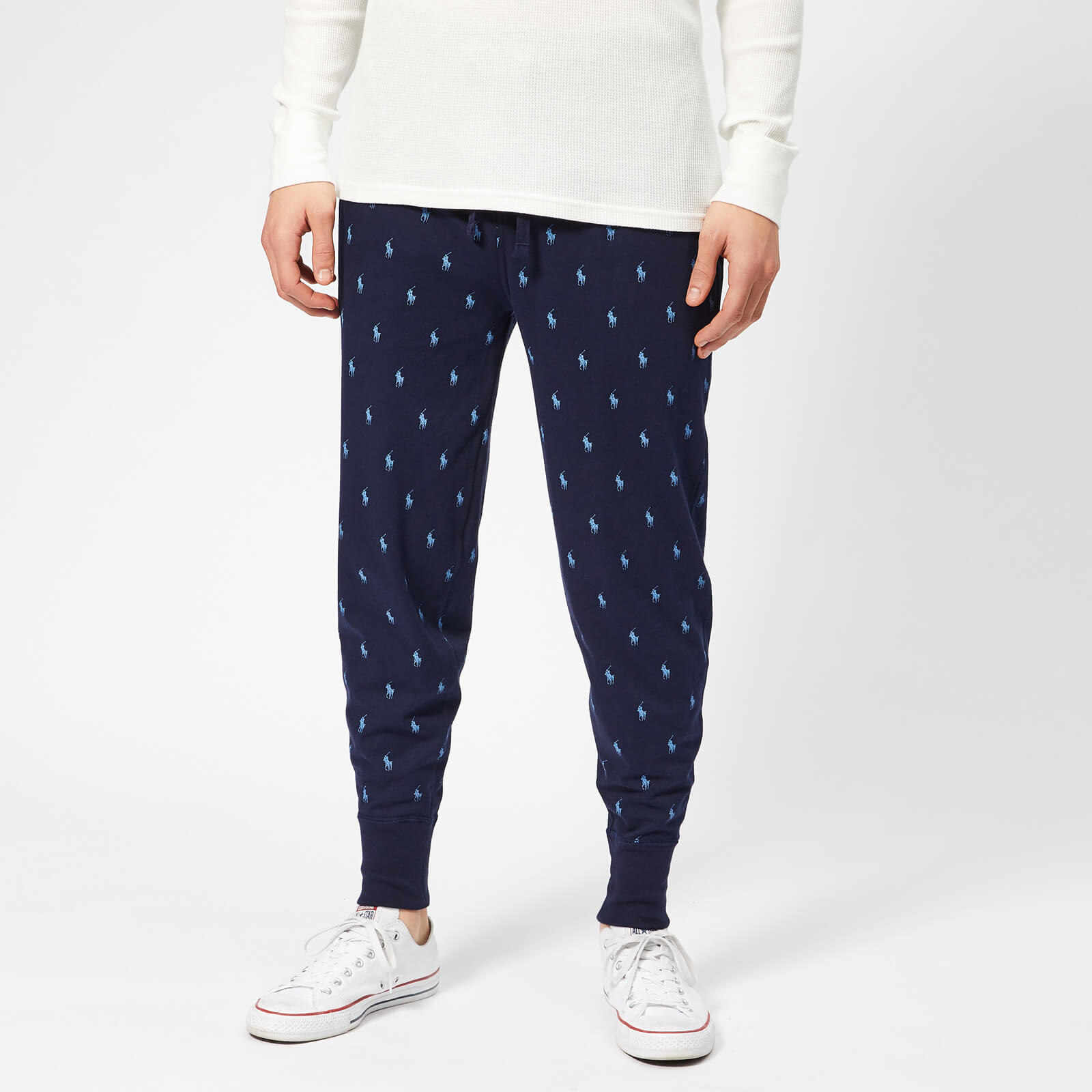 9c37f623 Polo Ralph Lauren Men's All Over Pony Joggers - Cruise Navy Clothing |  TheHut.com
