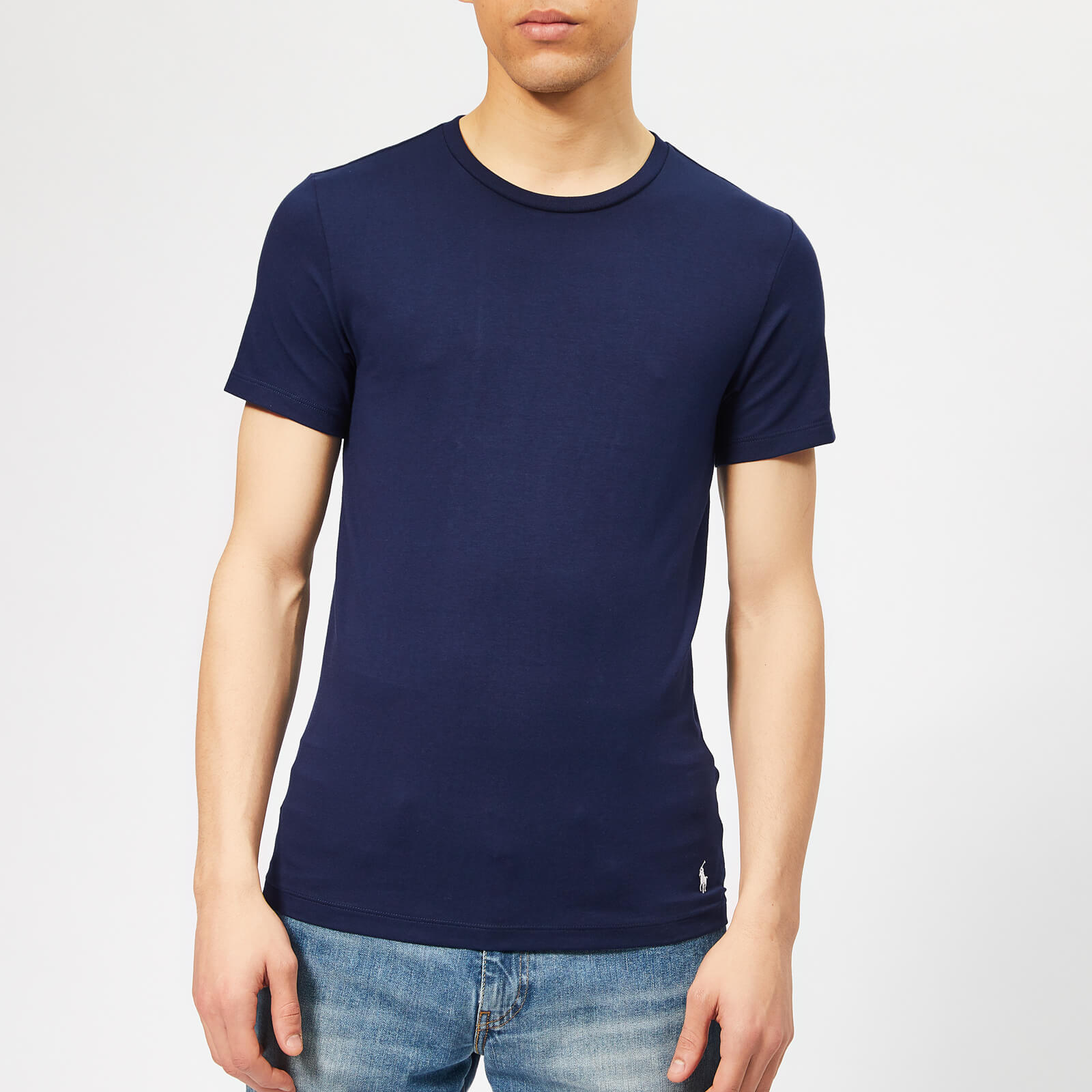 2c79f50428985 Polo Ralph Lauren Men s 2 Pack Crew Neck T-Shirt - Cruise Navy - Free UK  Delivery over £50
