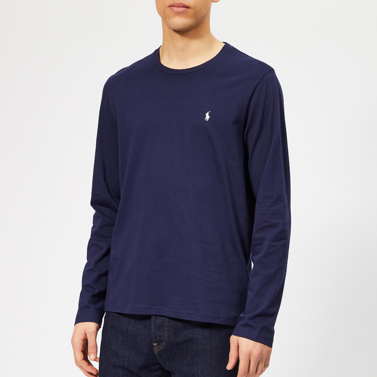 80d52126 Polo Ralph Lauren Men's Cotton Jersey Long Sleeve T-Shirt - Cruise Navy  Mens Clothing | TheHut.com