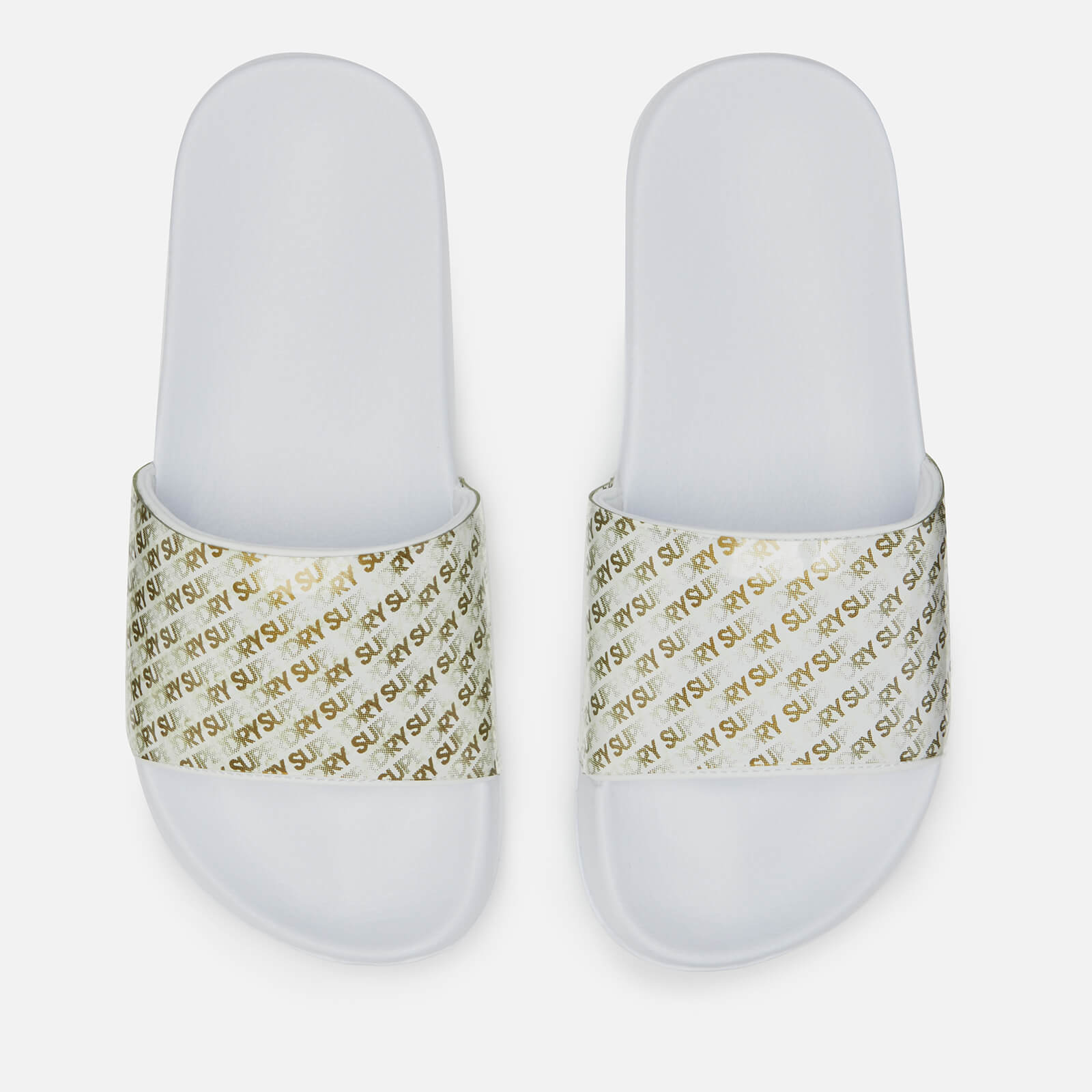 SUPERDRY SLIDERS WOMENS OPTIC WHITE SHOES