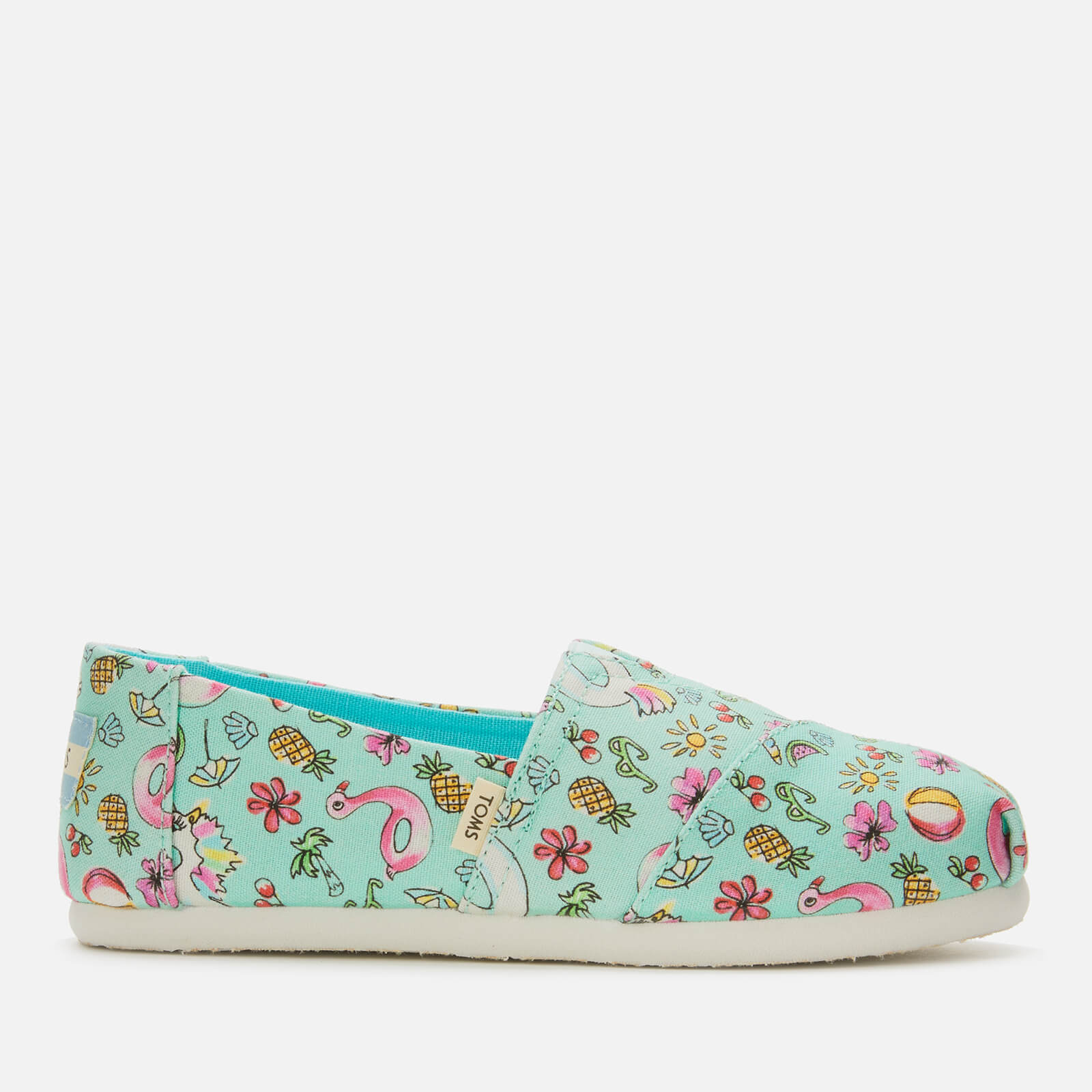3f8f83701c2 TOMS Kids' Alpargata Vegan Slip-On Pumps - Mint Poolside Junior Clothing |  TheHut.com