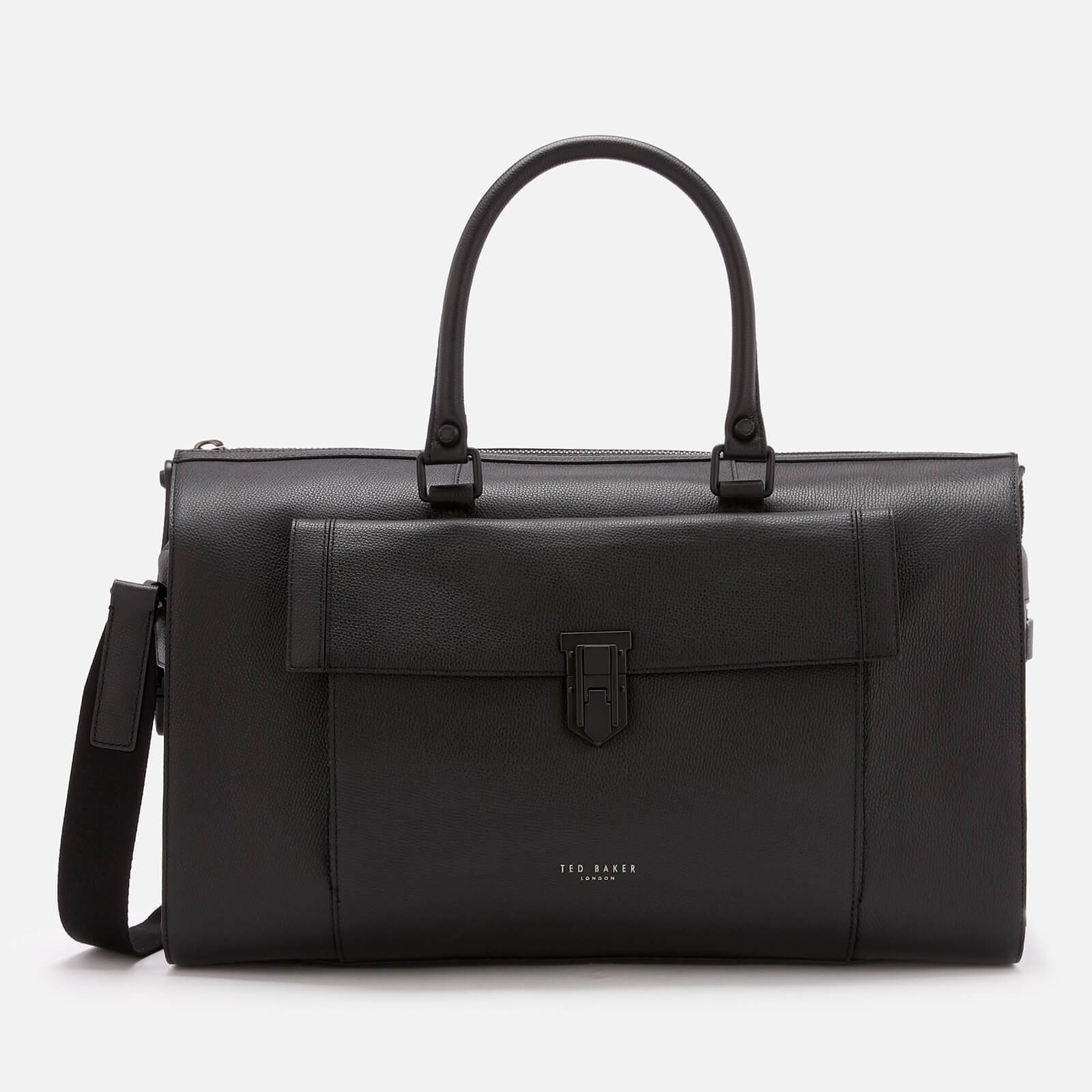 2ff0cde74 Ted Baker Men s Starmo Coloured Leather Holdall Bag - Black Mens Accessories