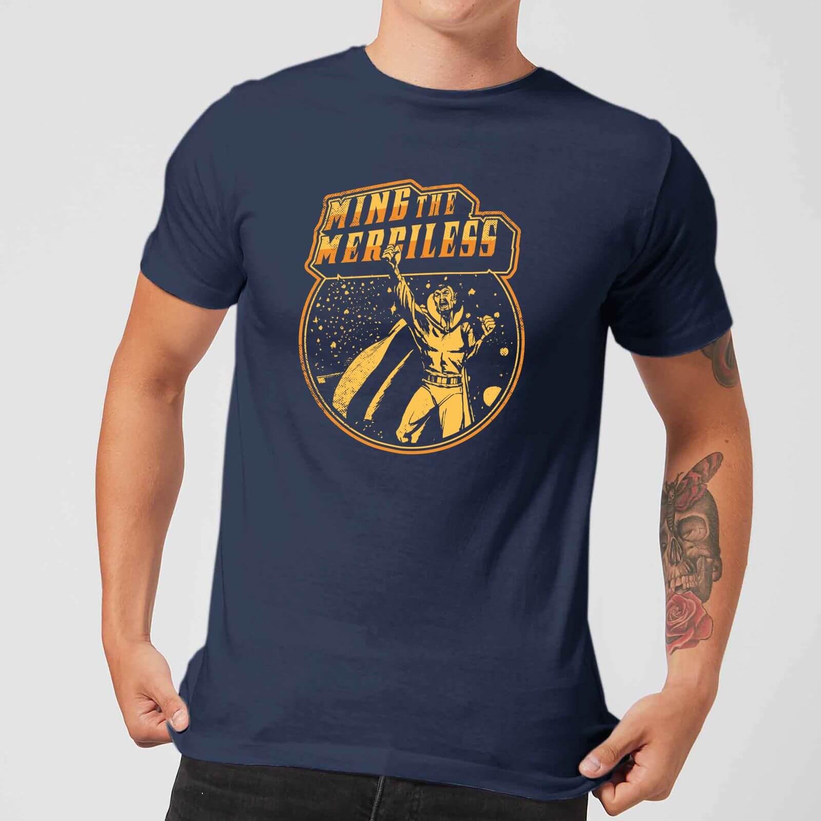 1622b266ed3ef Flash Gordon Ming The Merciless Retro Comic Men s T-Shirt - Navy Clothing