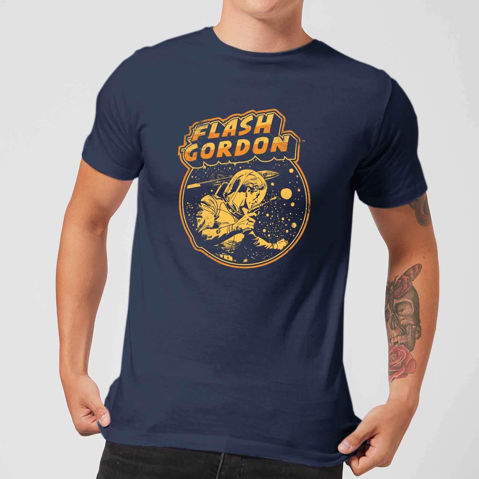 296bd343e Flash Gordon Flash Retro Comic Men's T-Shirt - Navy