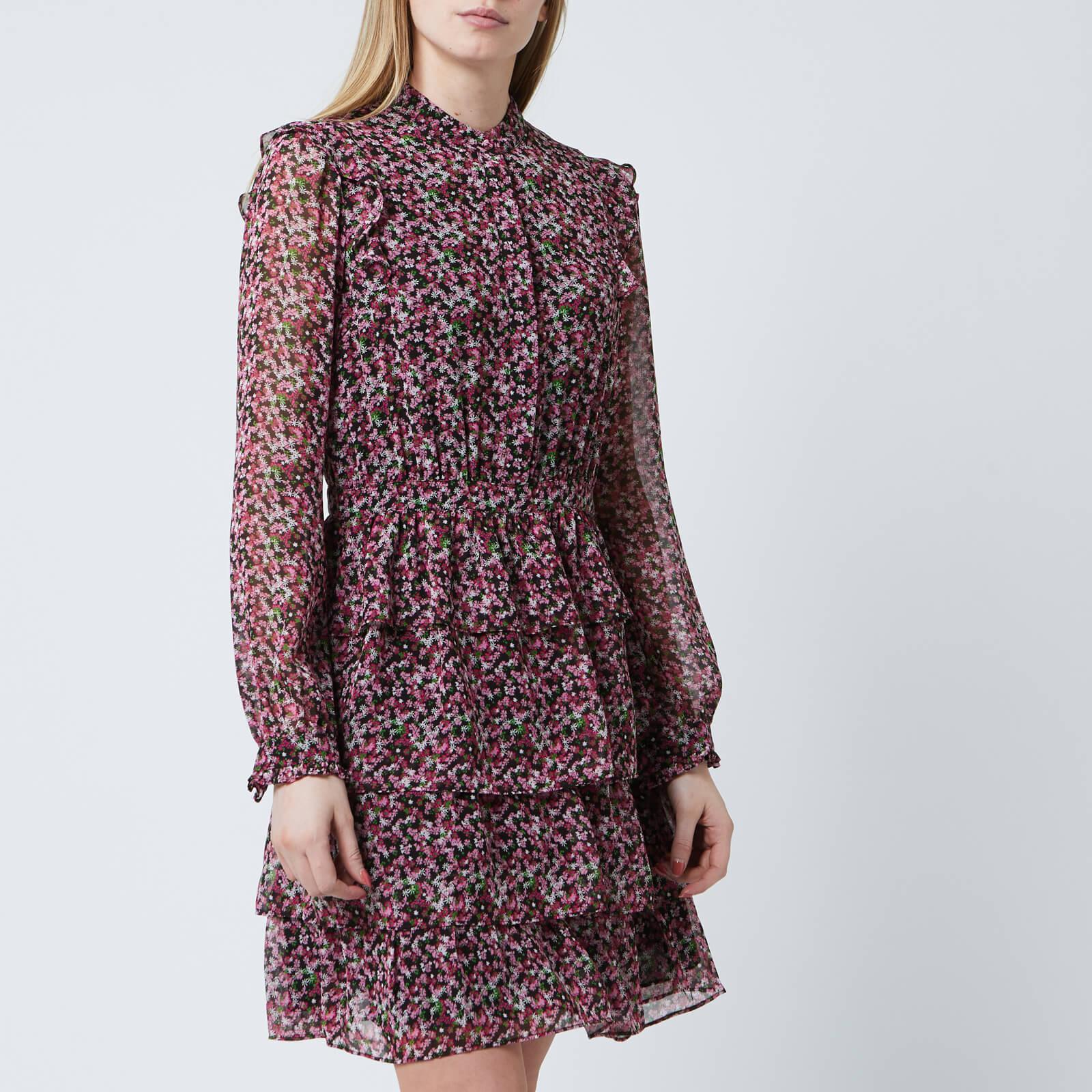 2a0bb475864 MICHAEL MICHAEL KORS Women's Floral Shirt Dress - Black/Electric Pink