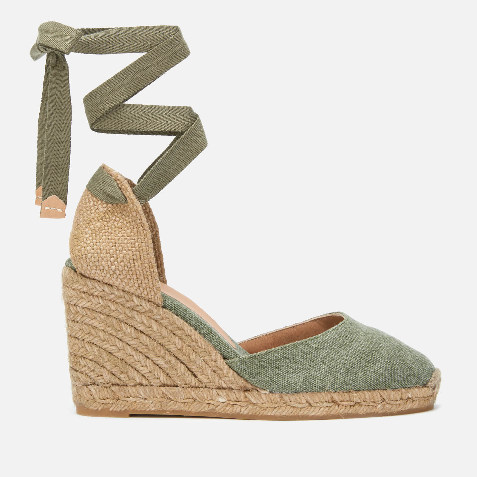 244d61abb7ff Castaner Women s Carina Espadrille Wedged Sandals - Oliva - Free UK  Delivery over £50