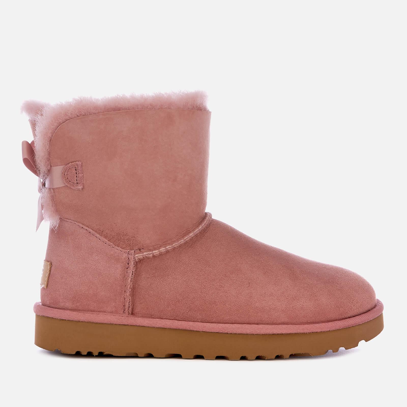 9e6ab9364ff UGG Women's Mini Bailey Bow II Sheepskin Boots - Pink Dawn Clothing |  TheHut.com