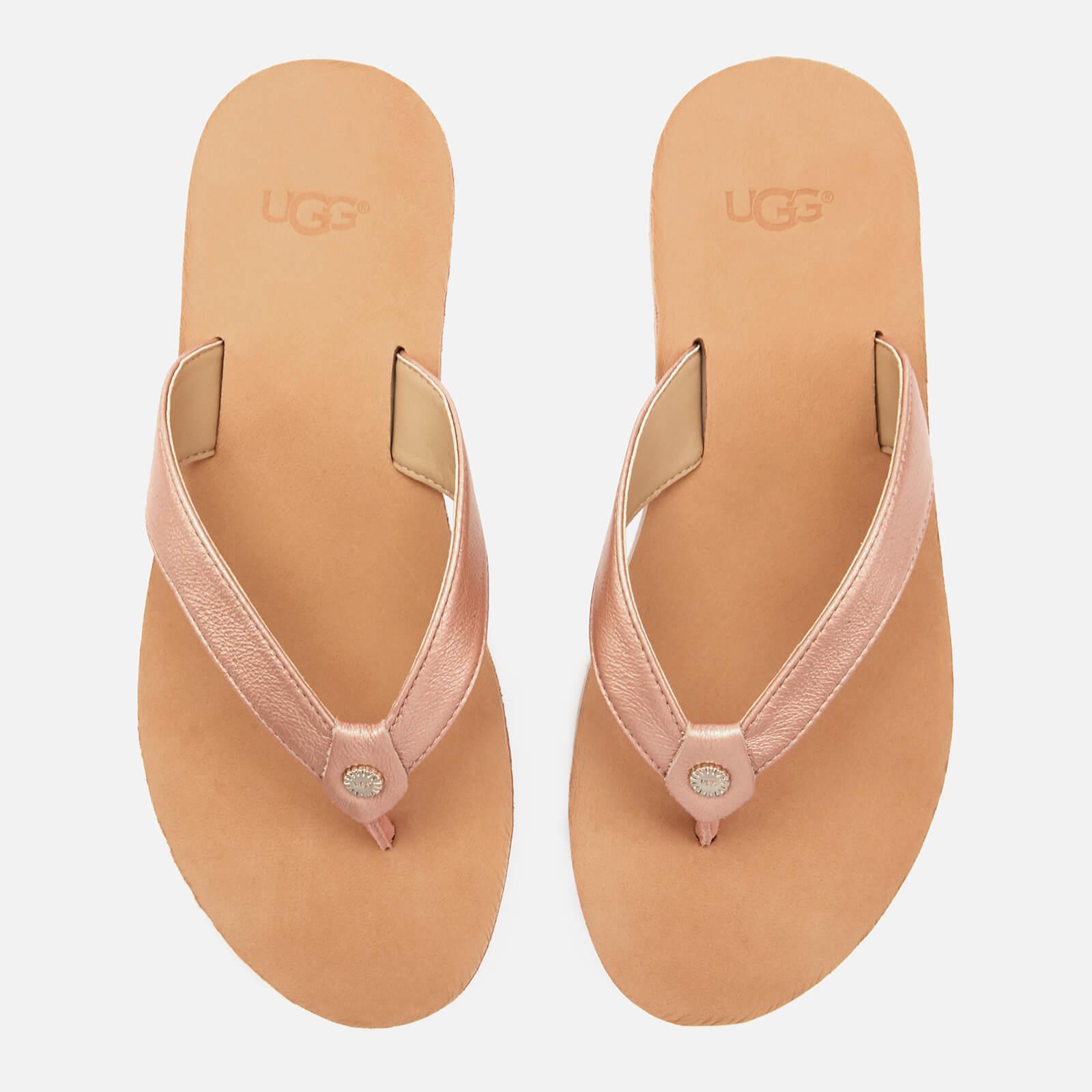 376e291c339 UGG Women's Tawney Metallic Flip Flops - Rose Gold
