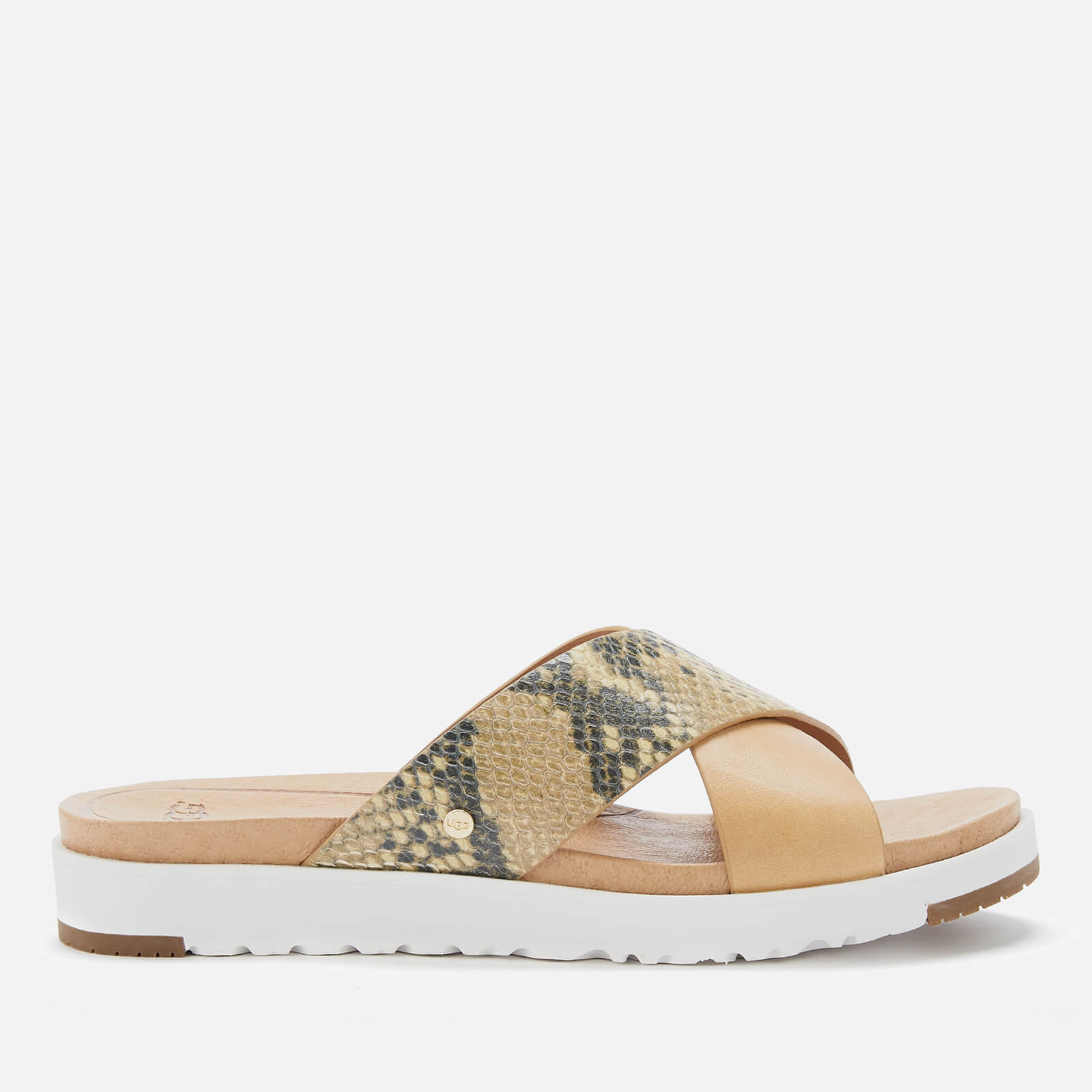 25b787a08bd UGG Women's Kari Exotic Cross Strap Slide Sandals - Tan