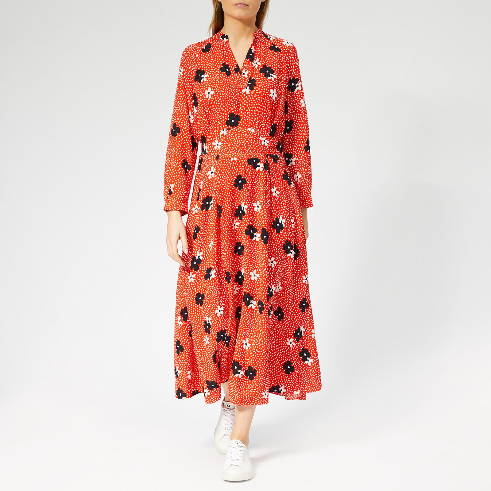 0445efe41 Whistles Women's Confetti Floral Print Midi Dress - Red/Multi Womens  Clothing | TheHut.com