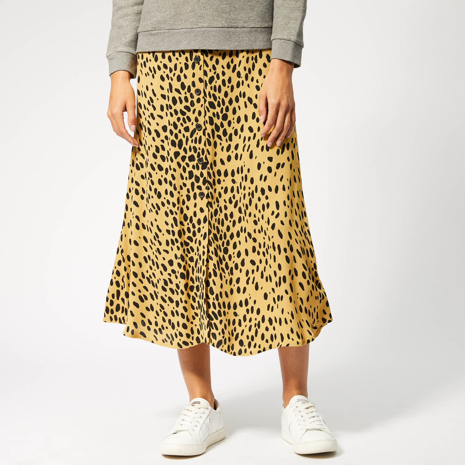 cb96bc3337a6 Whistles Women's Animal Print Midi Skirt - Cream/Multi Womens Clothing |  TheHut.com