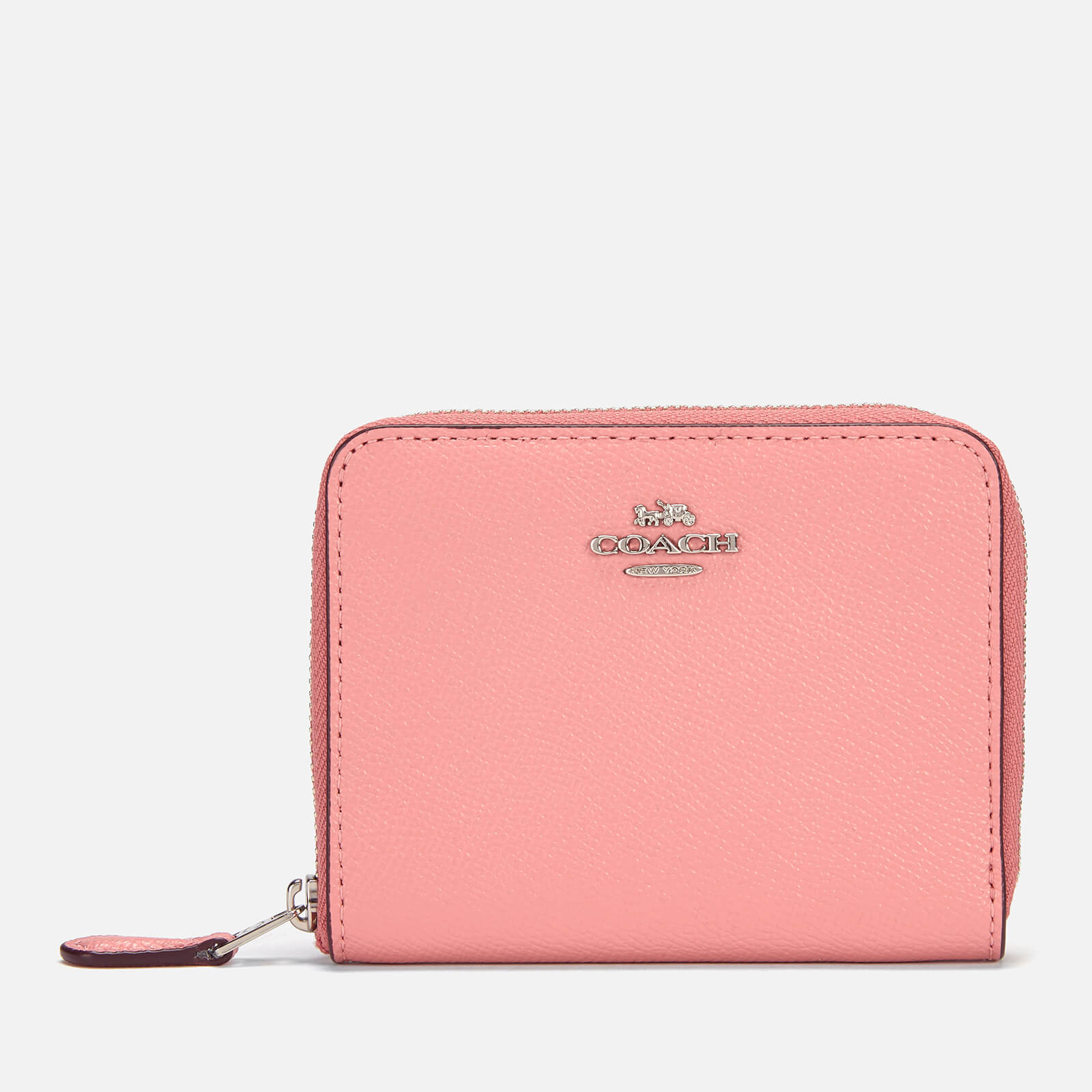 2d4e62765cc4 Coach Women s Crossgrain Leather Small Zip Around Wallet - Light Blush -  Free UK Delivery over £50