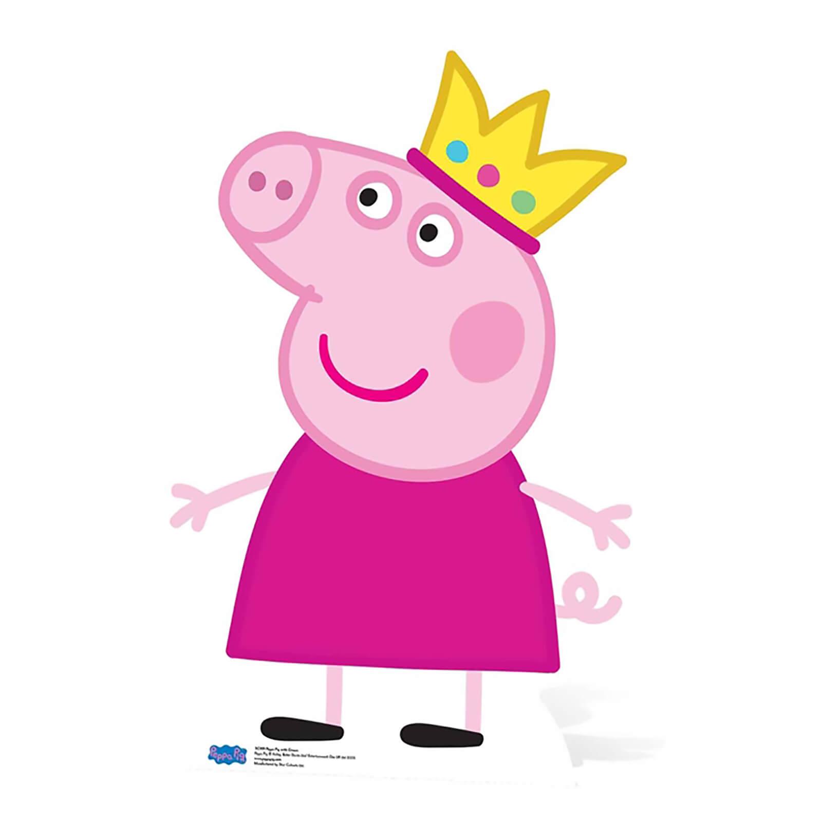 Peppa Pig Peppa Pig Crown Lifesize Cardboard Cut Out