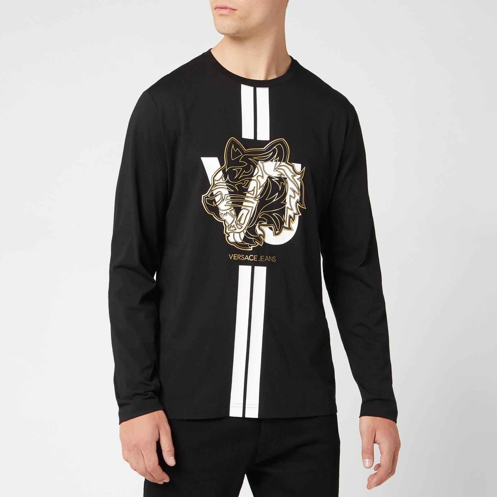 a4664b01 Versace Jeans Men's Long Sleeve T-Shirt - Black Clothing | TheHut.com