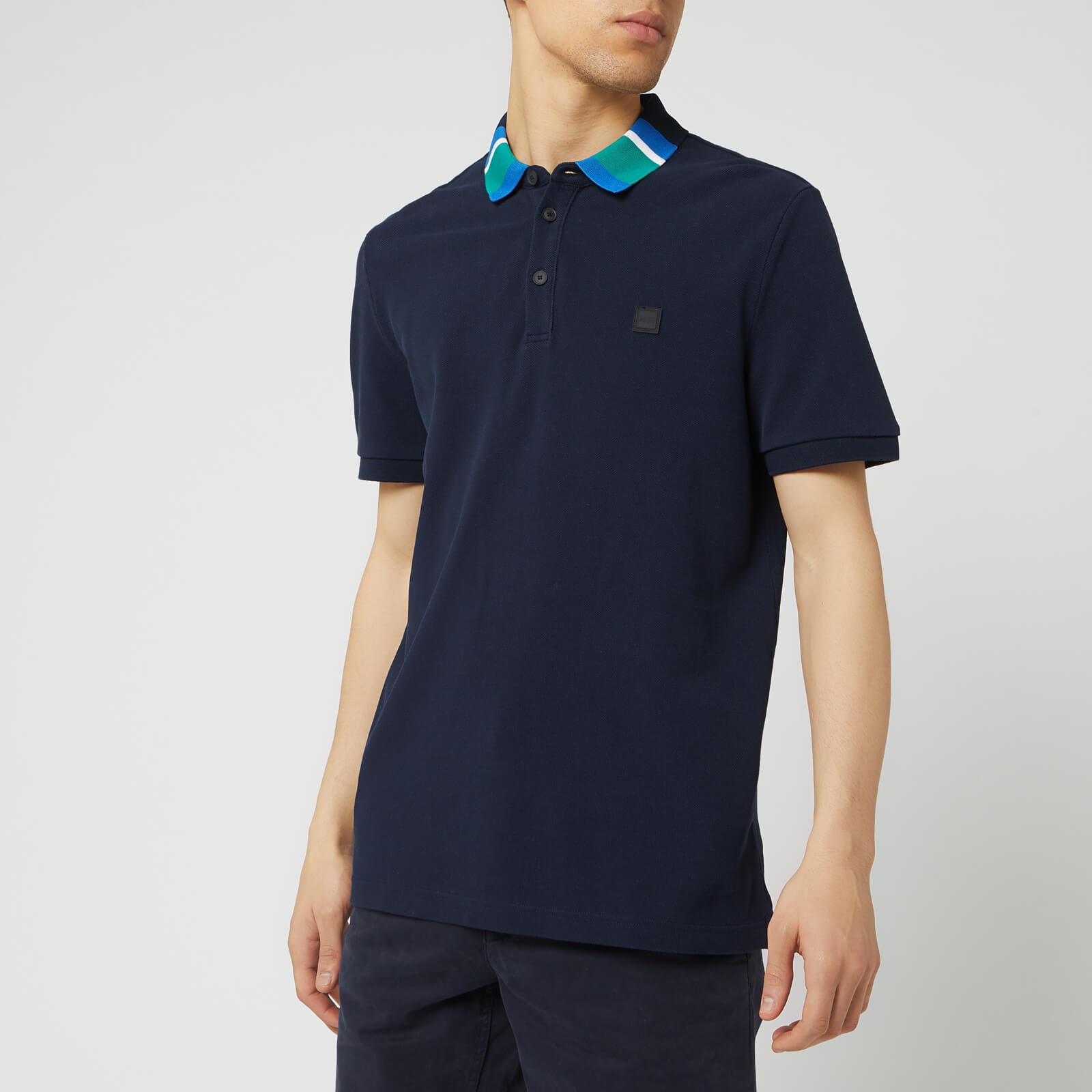 cce3cc7a2 BOSS Men's Polarized Polo Shirt - Dark Blue Clothing | TheHut.com