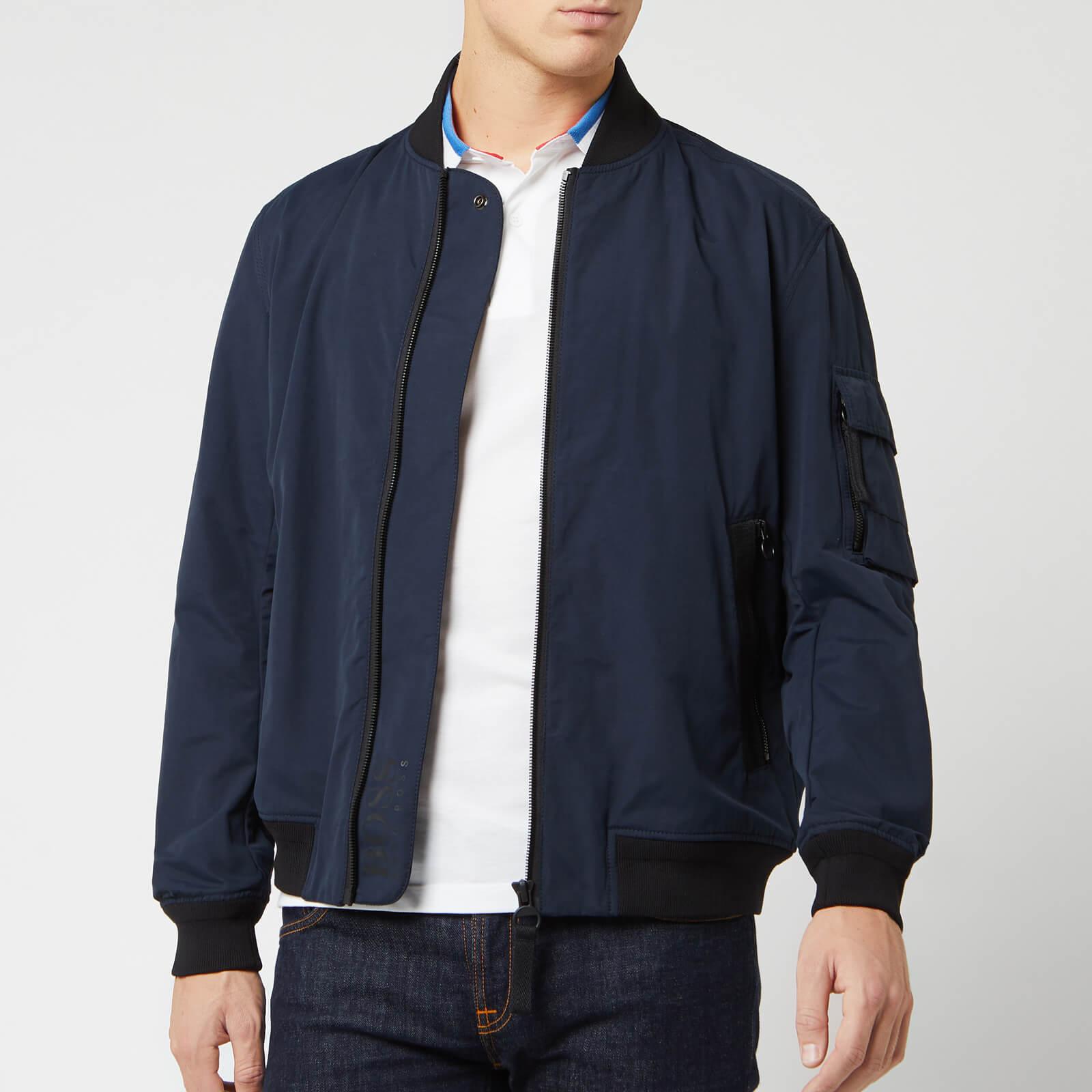 newest new season how to purchase BOSS Men's Obani Bomber Jacket - Dark Blue