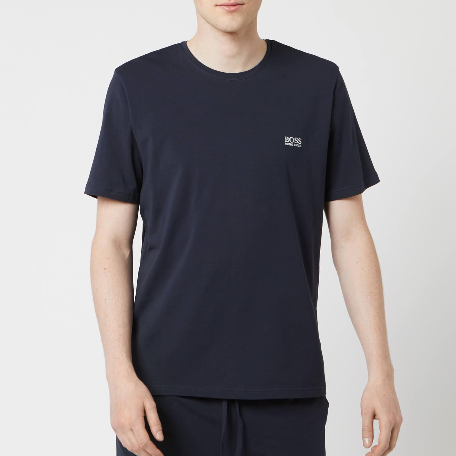 crazy price discount for sale Super discount BOSS Hugo Boss Men's Crew Neck Small Logo T-Shirt - Navy