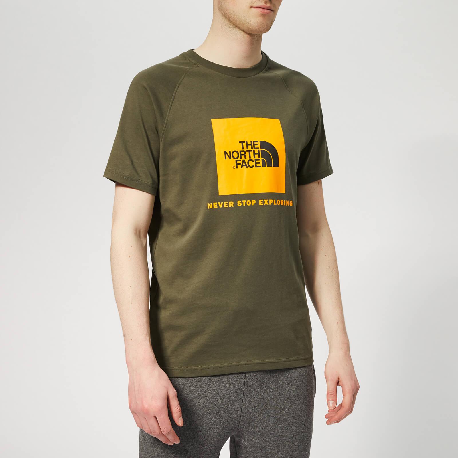 c53d1f5ec The North Face Men's Raglan Redbox Short Sleeve T-Shirt - New Taupe Green