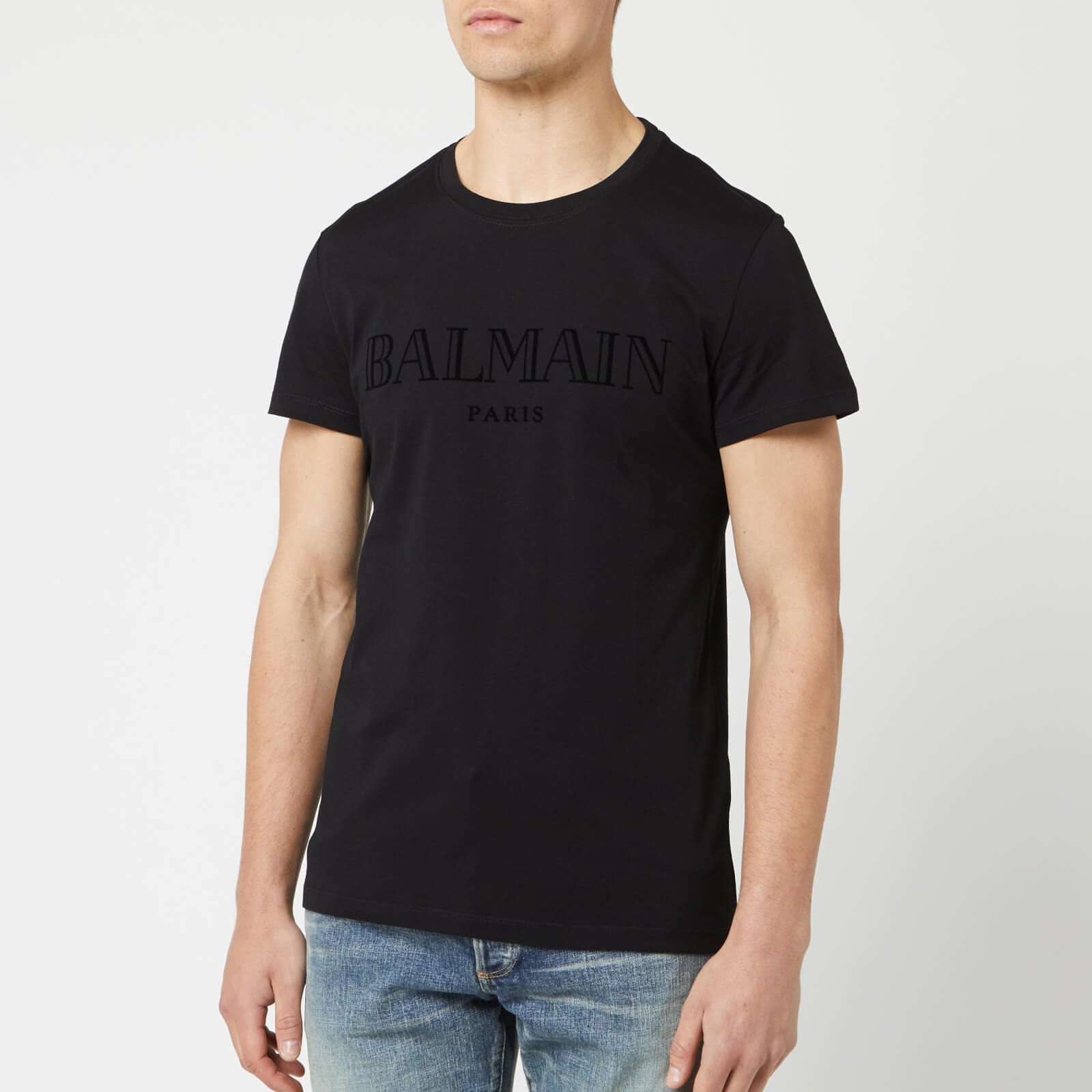 d680cf6e7 Balmain Men's Paris T-Shirt - Noir - Free UK Delivery over £50