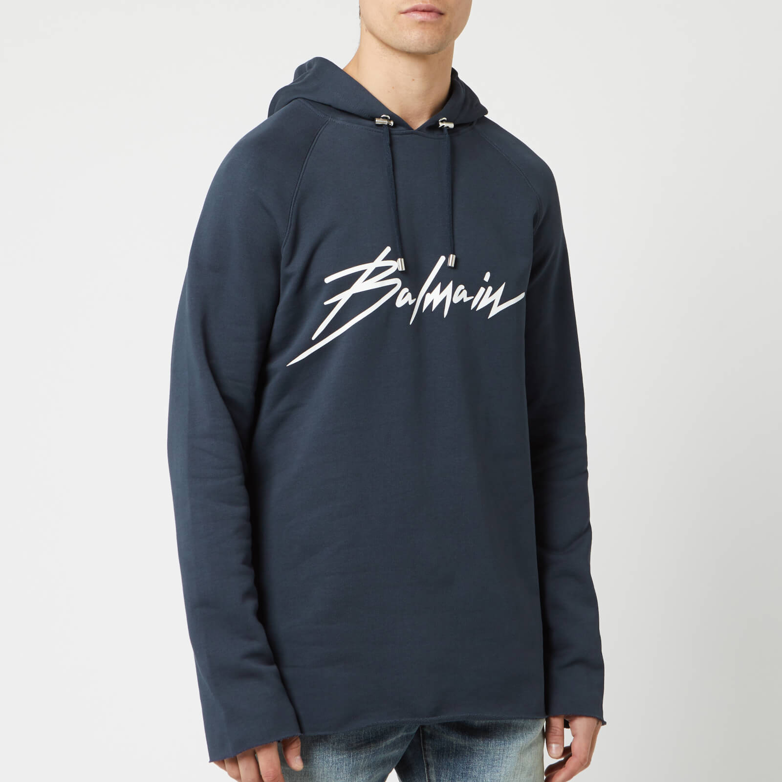 dd135a4e1 Balmain Men's Signature Hoodie - Marine - Free UK Delivery over £50