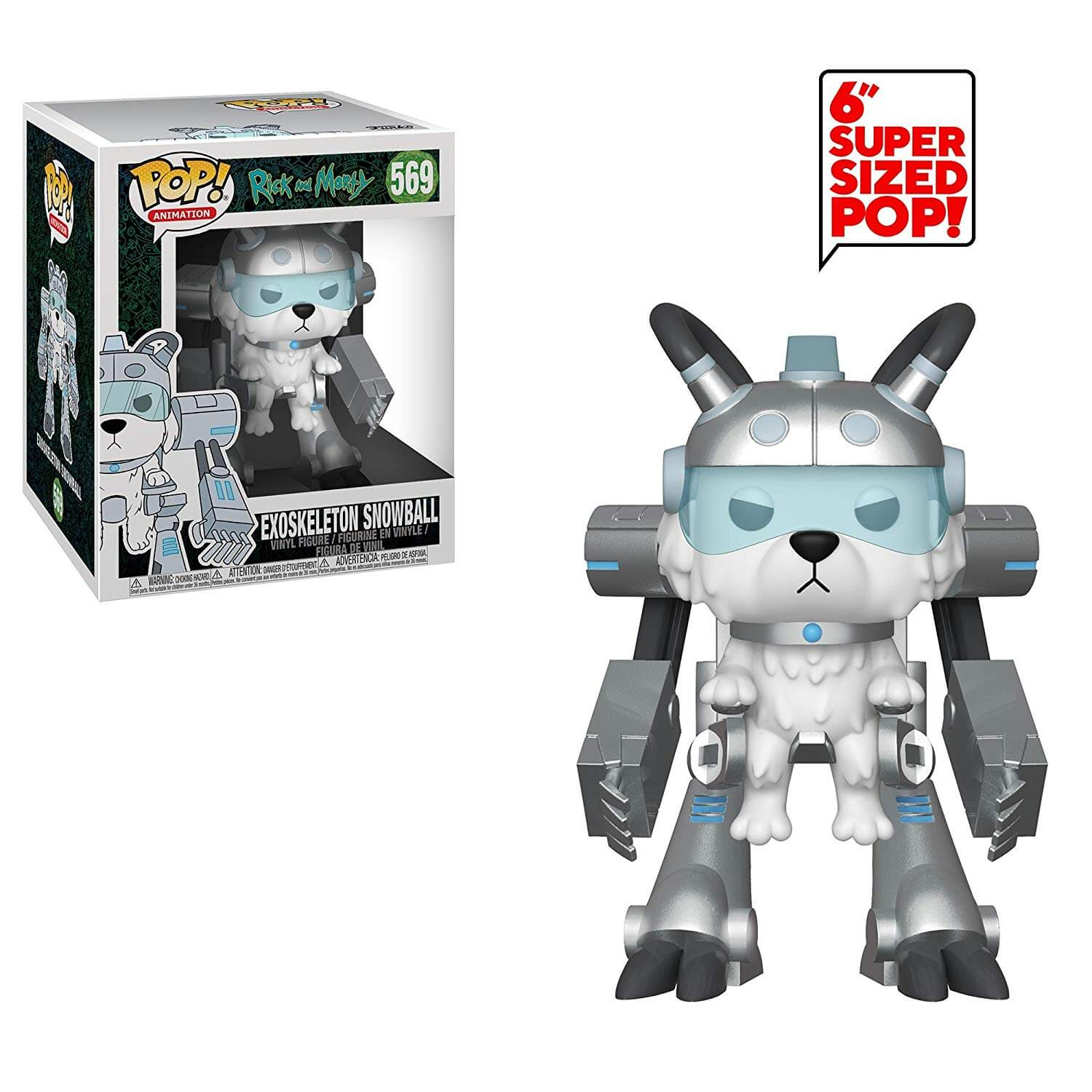 0dec58416bb Rick and Morty Snowball in Mech Suit 6 Inch Pop! Vinyl Figure   Pop In A  Box UK