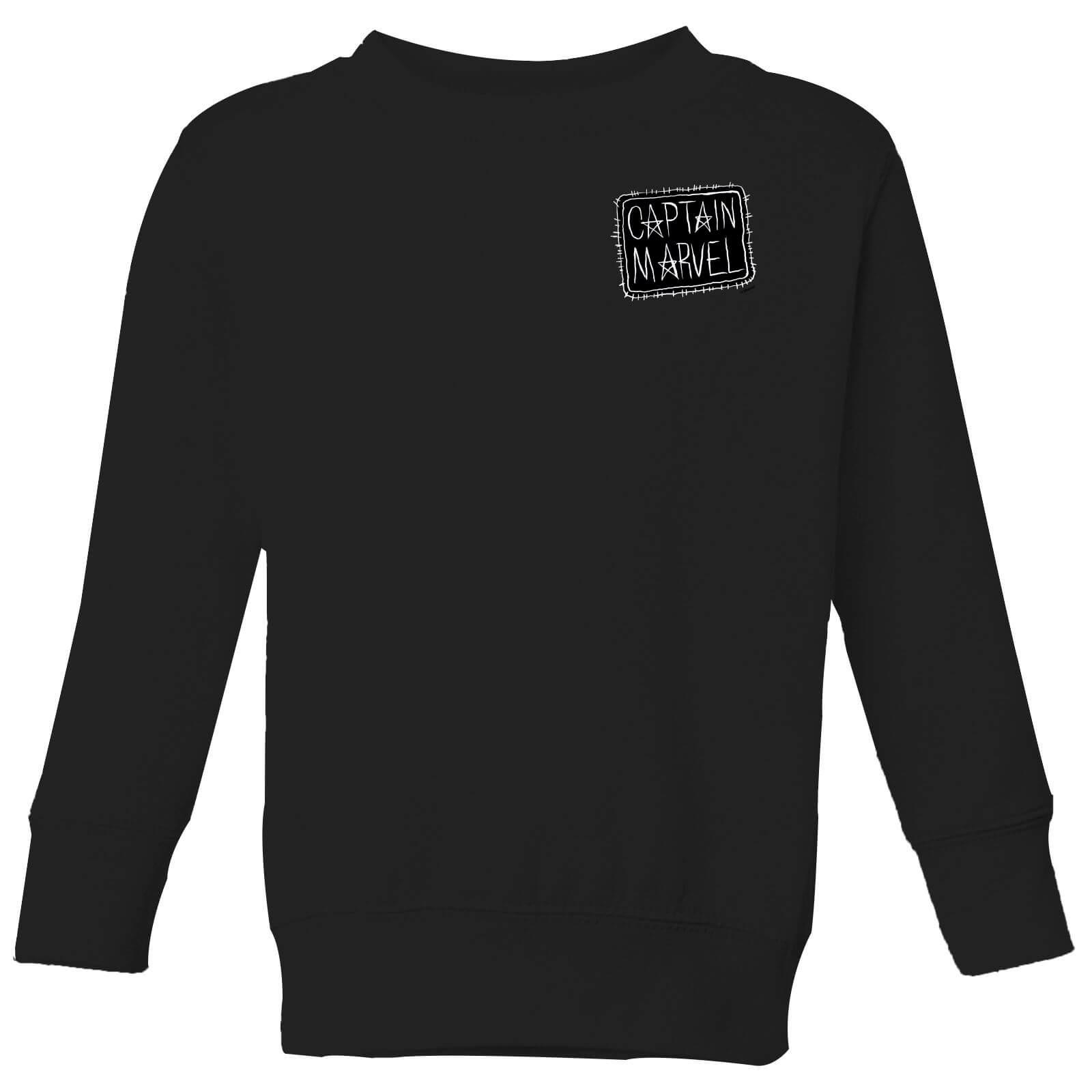 Captain Marvel Name Badge Kids Sweatshirt Black Iwoot