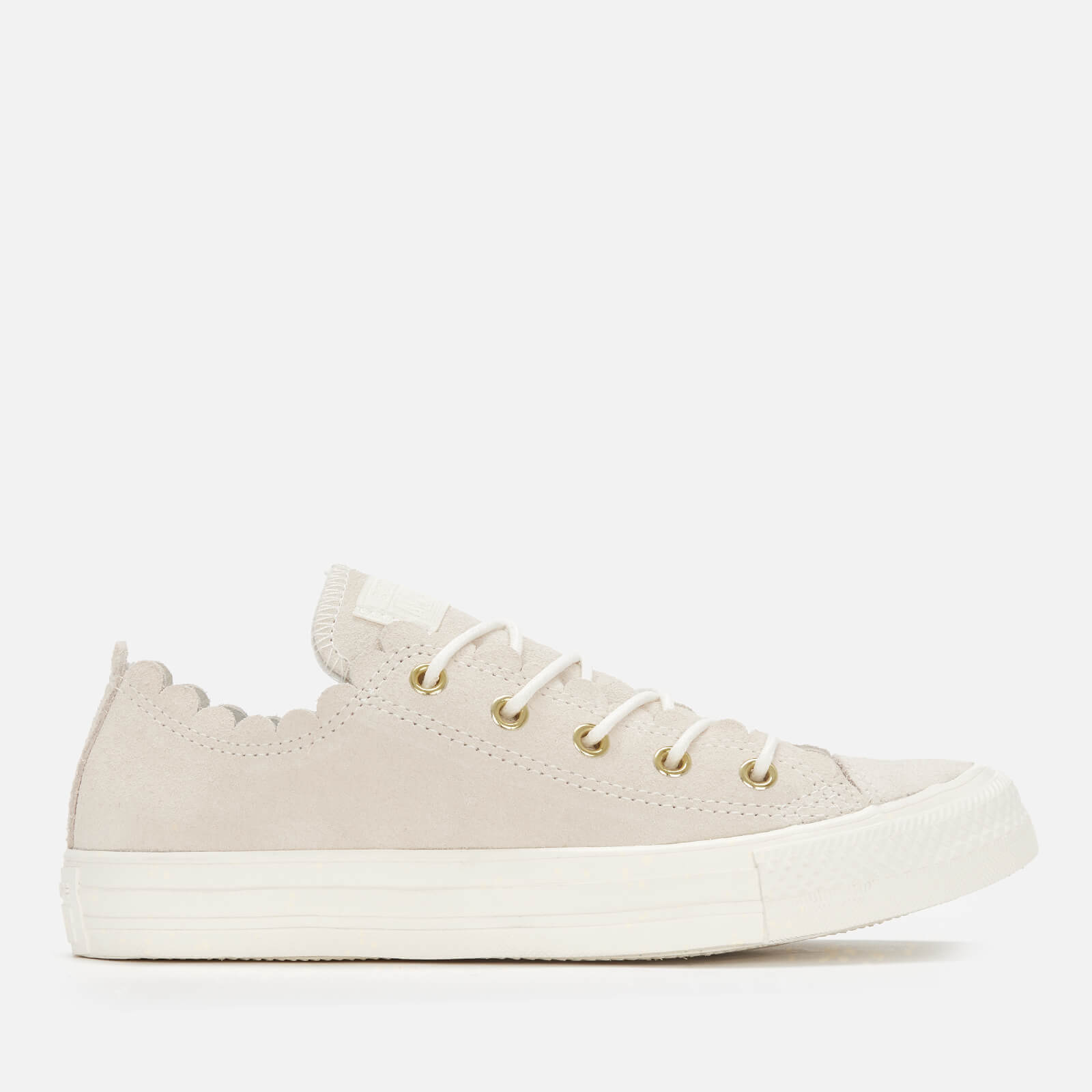 0496b879b1ed Converse Women s Chuck Taylor All Star Scalloped Edge Ox Trainers -  Egret Gold Womens Footwear