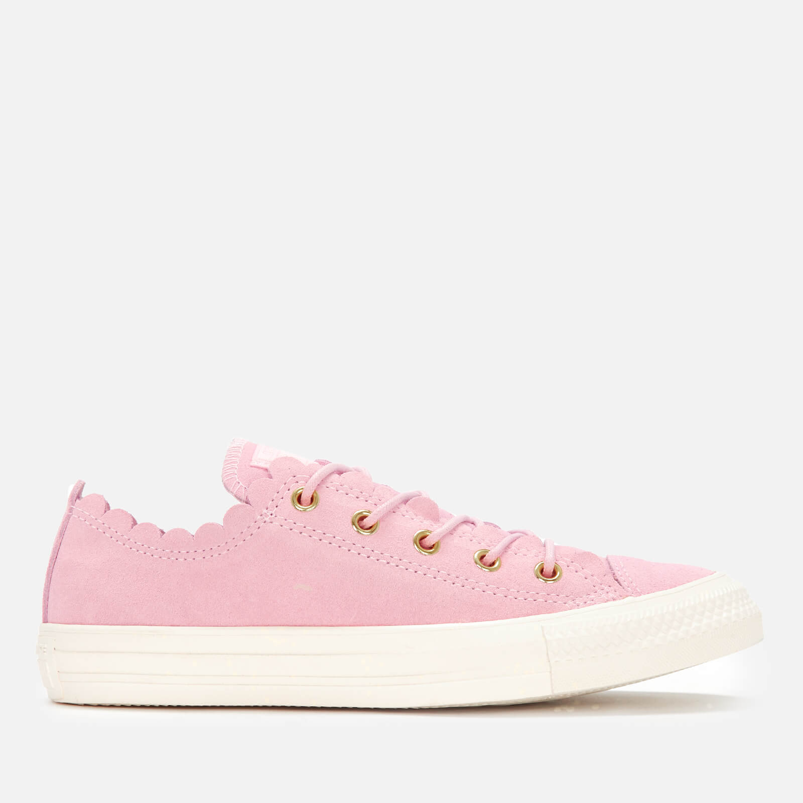 Converse Women's Chuck Taylor All Star Scalloped Edge Ox Trainers Pink FoamGoldEgret
