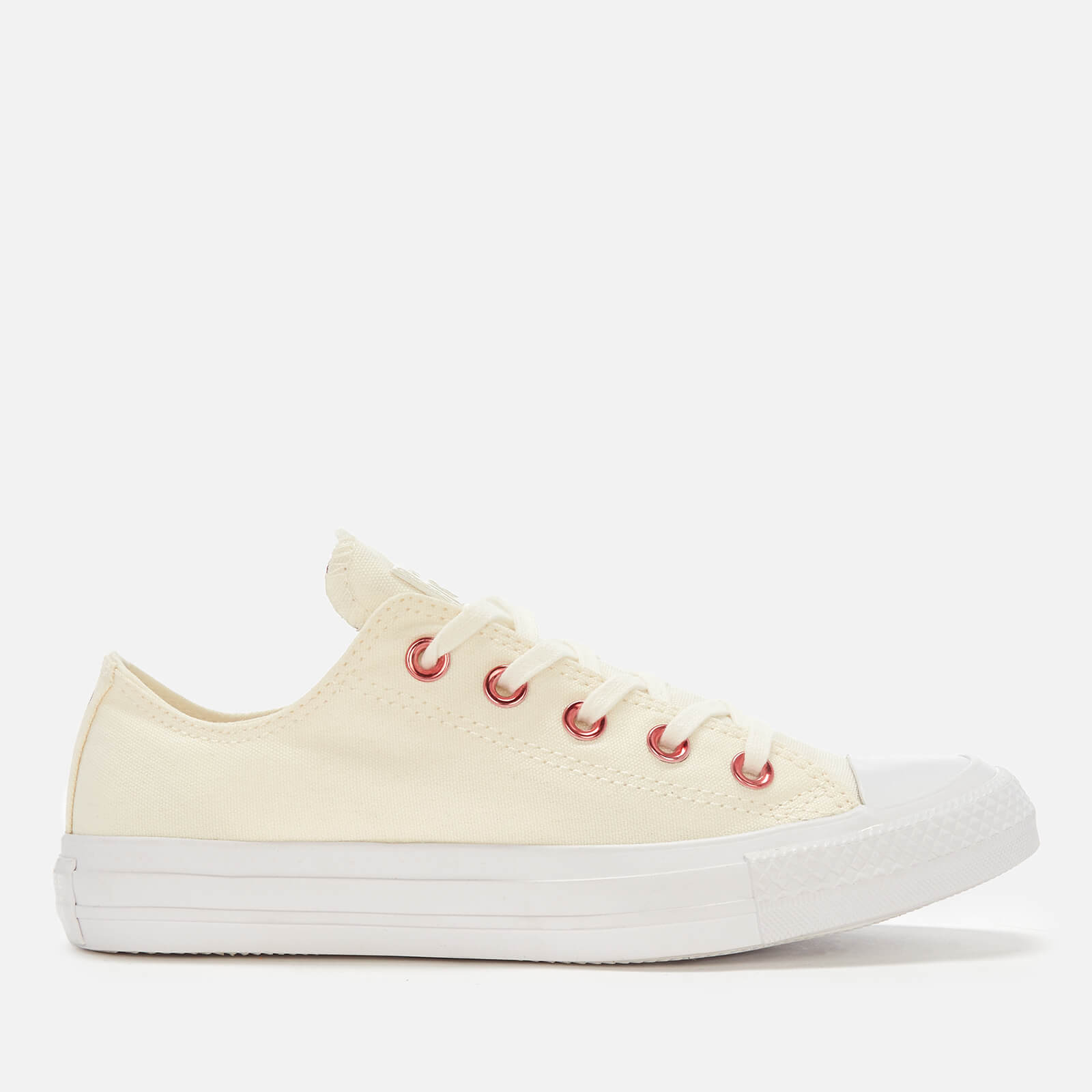 ef878b9f5318e3 Converse Women s Chuck Taylor All Star Ox Trainers - Egret Rhubarb White  Womens Footwear