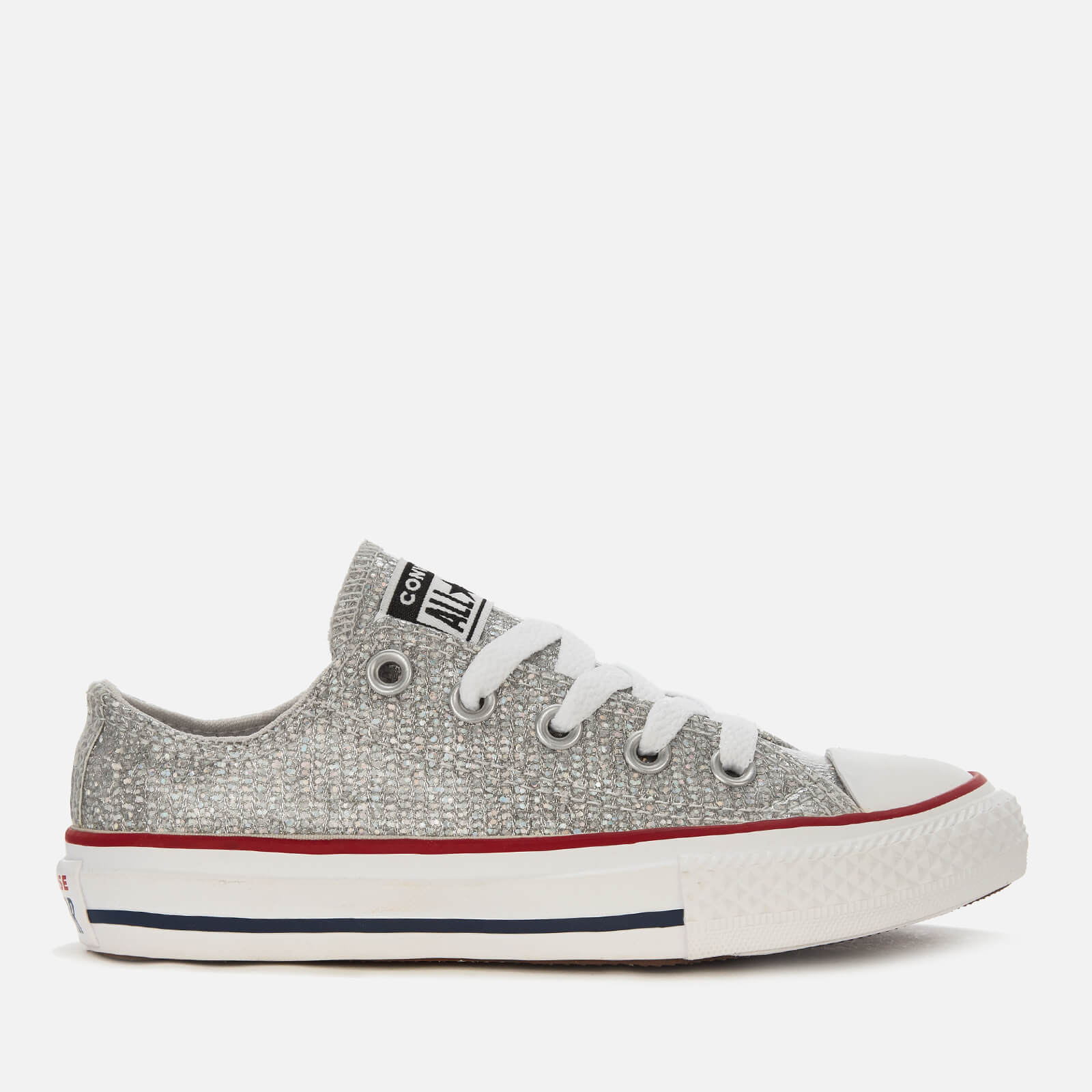 e1a296b7780384 Converse Kids  Chuck Taylor All Star Ox Trainers - Mouse Enamel Red White  Junior Clothing
