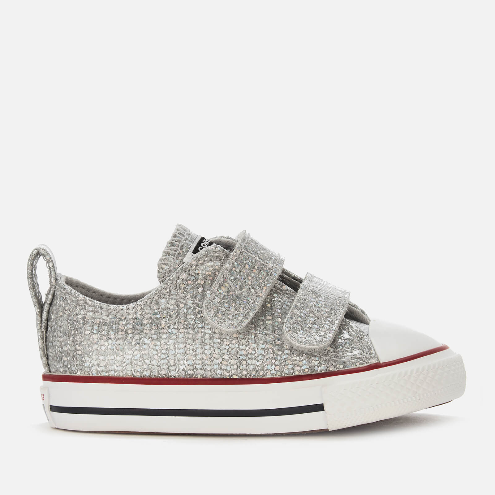 8c85650ce78c Converse Toddlers  Chuck Taylor All Star 2 Velcro Ox Trainers -  Mouse Enamel Red White Junior Clothing