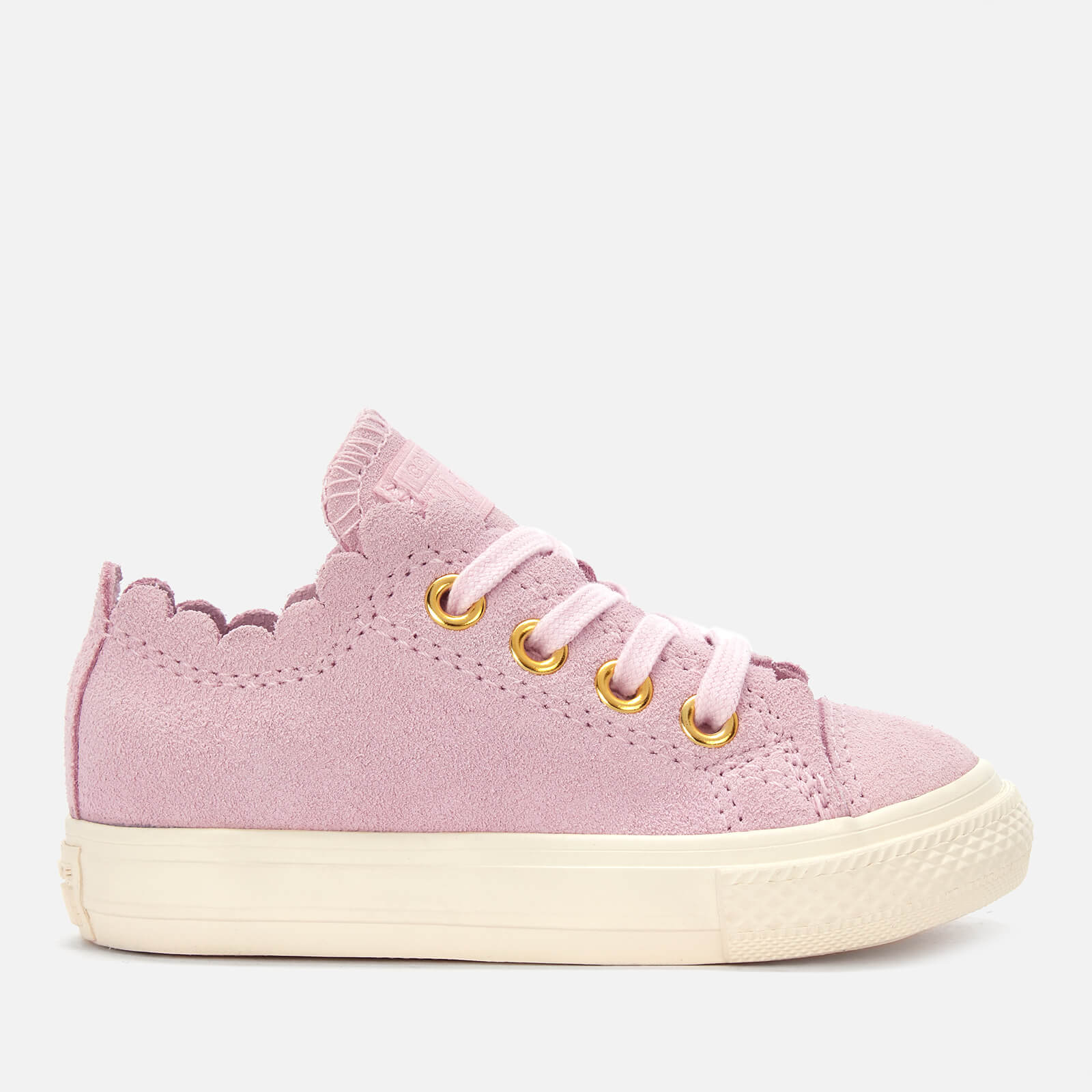 57da1faeb7c Converse Toddlers  Chuck Taylor All Star Ox Trainers - Pink Foam Brass  Junior Clothing