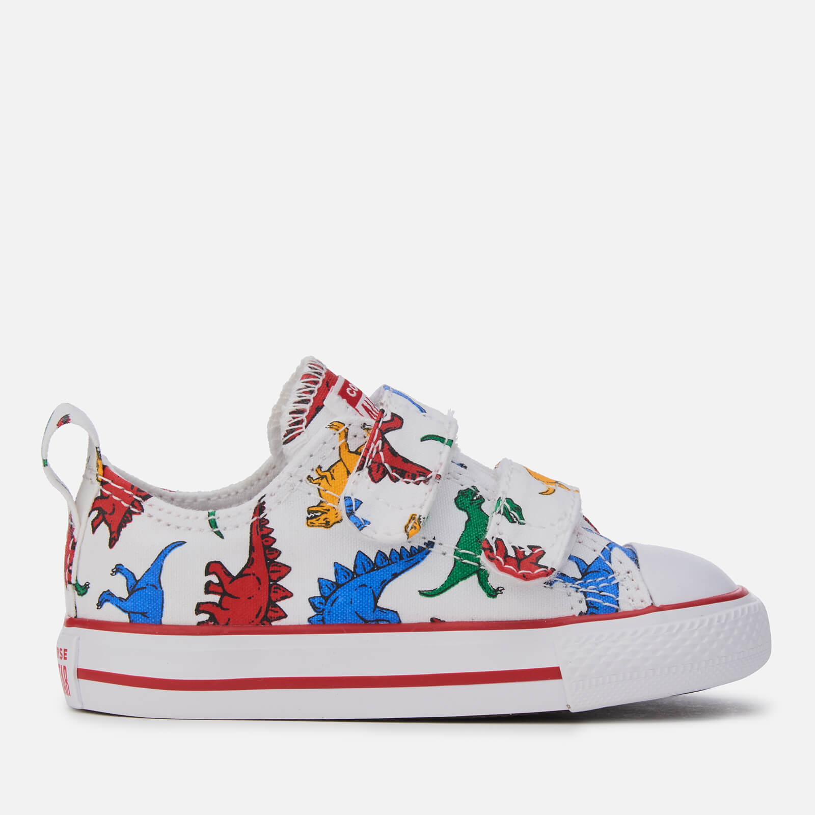 89da05ccd9f2 Converse Kids  Chuck Taylor All Star 2 Velcro Trainers - White Enamel  Red Totally Blue Junior Clothing