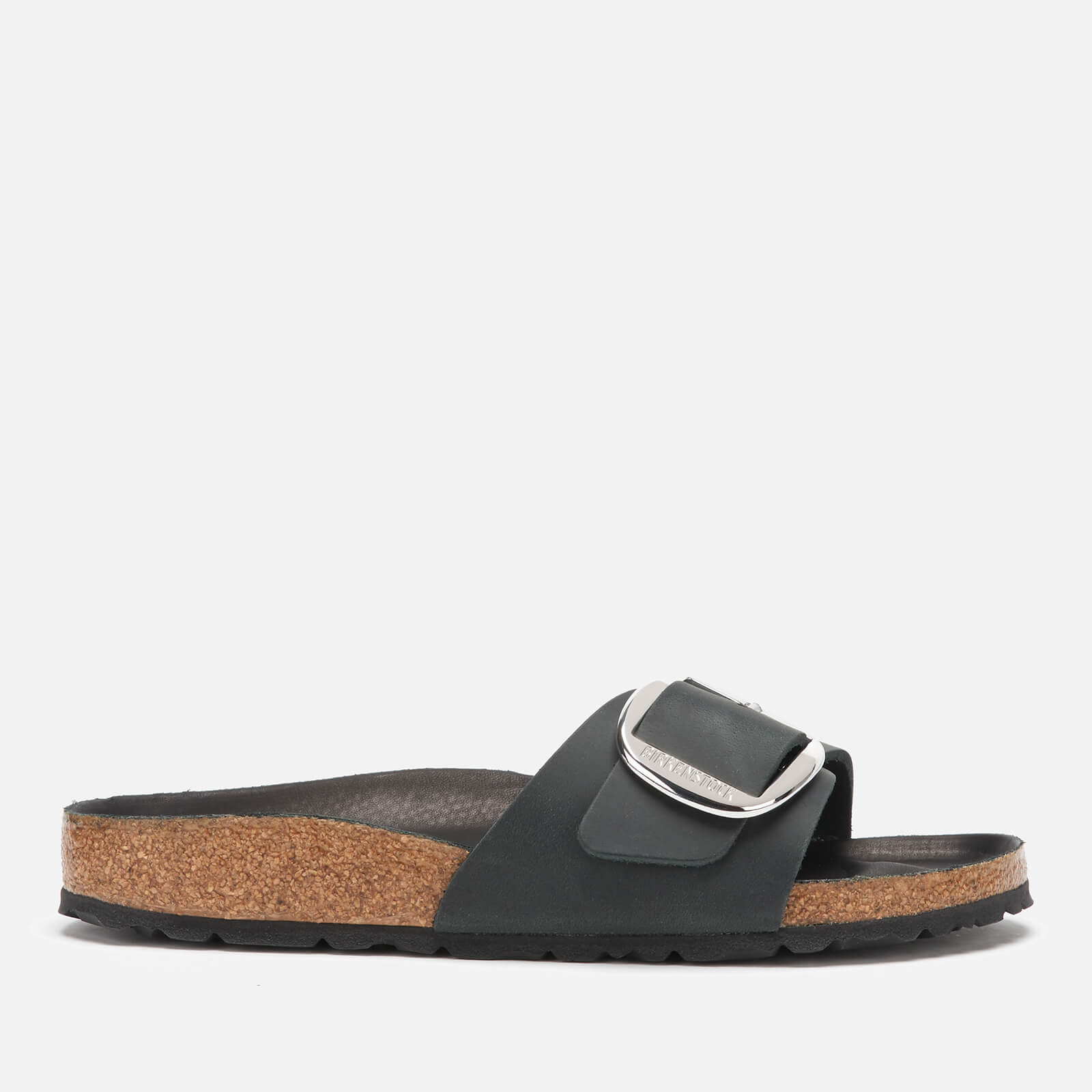f22dbd0b0f2 Birkenstock Women's Madrid Big Buckle Leather Slim Fit Double Strap Sandals  - Black | FREE UK Delivery | Allsole