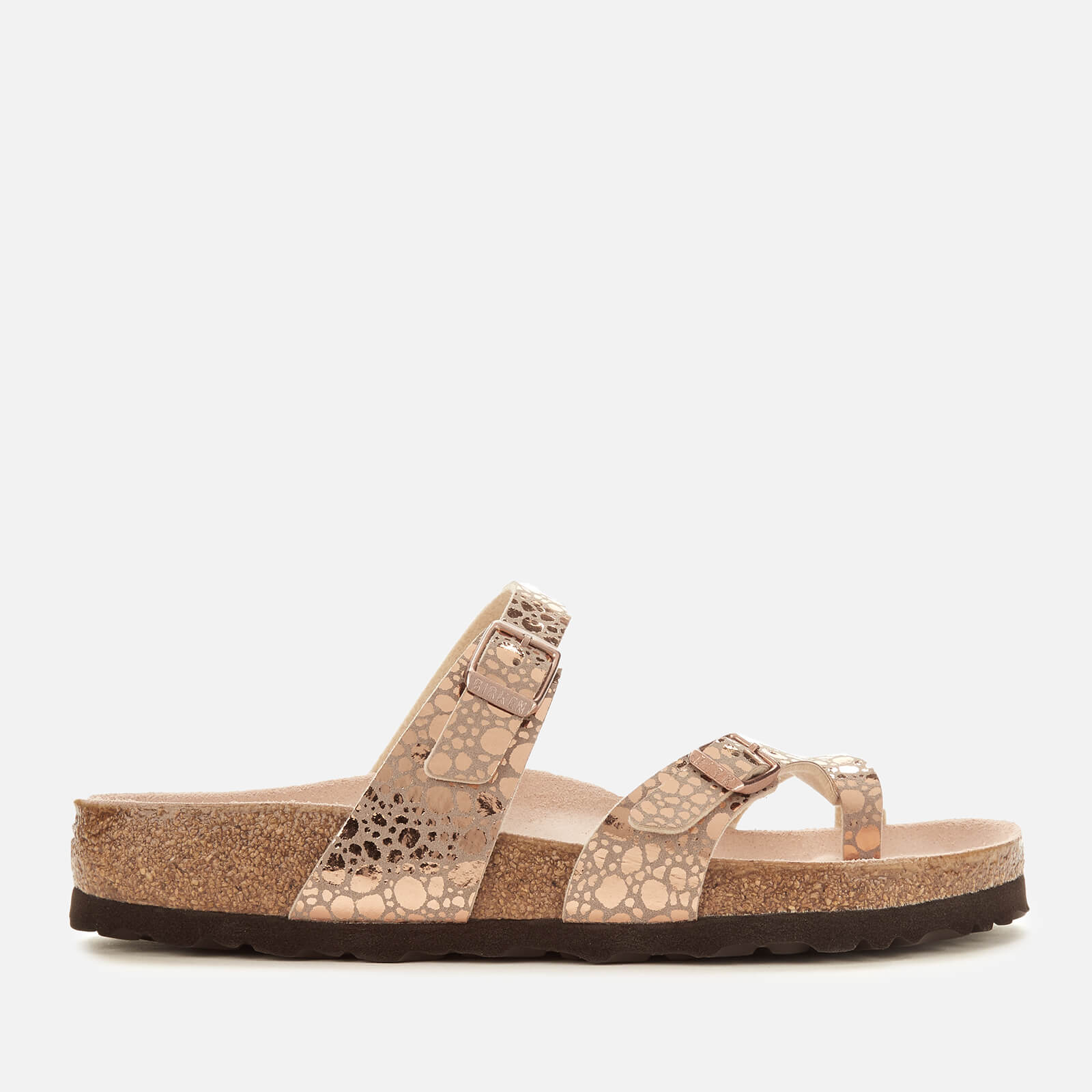 6b7049eb9 Birkenstock Women's Mayari Slim Fit Double Strap Sandals - Metallic Stones  Copper | FREE UK Delivery | Allsole