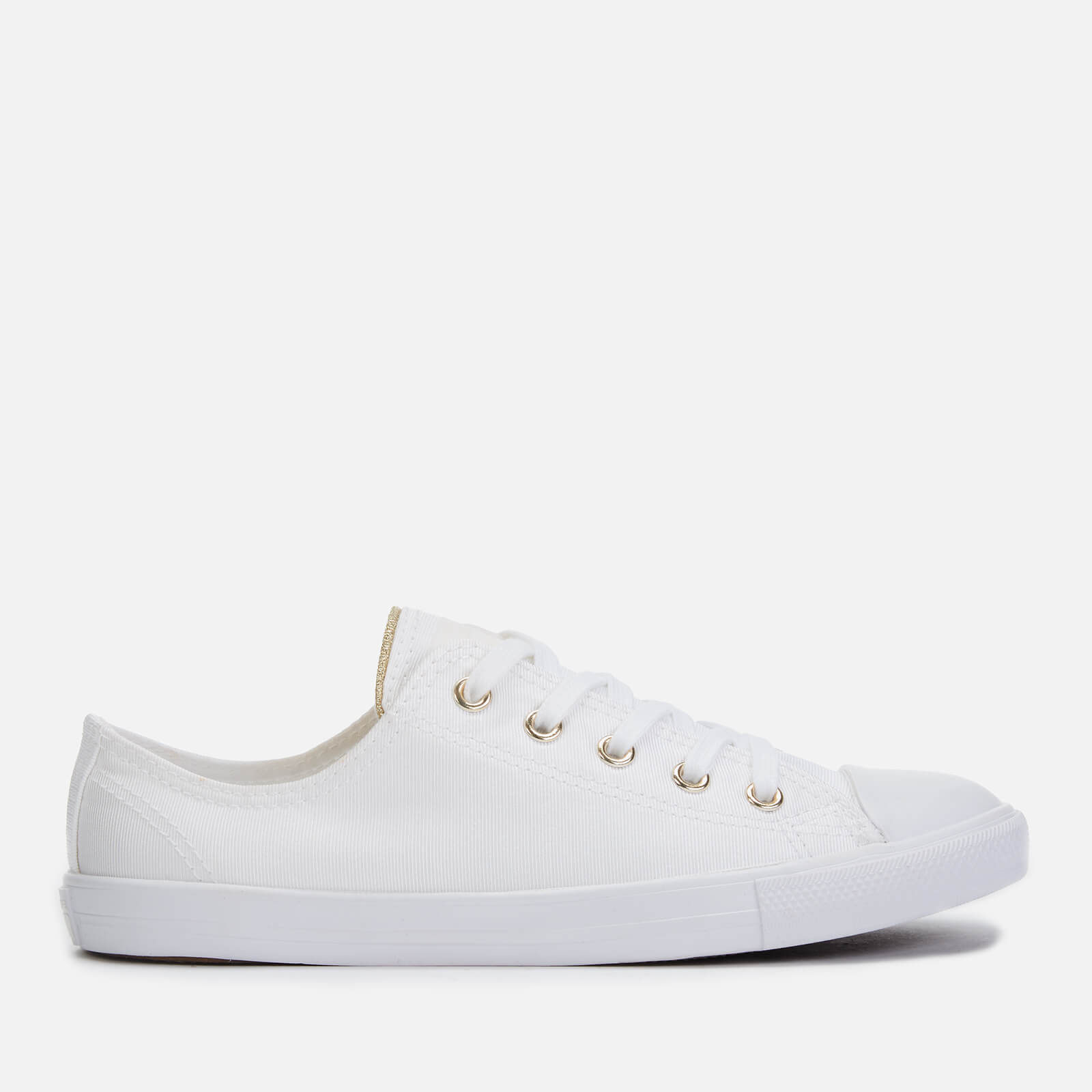 Converse Women's Chuck Taylor All Star Dainty Ox Trainers WhiteEgretLight Gold